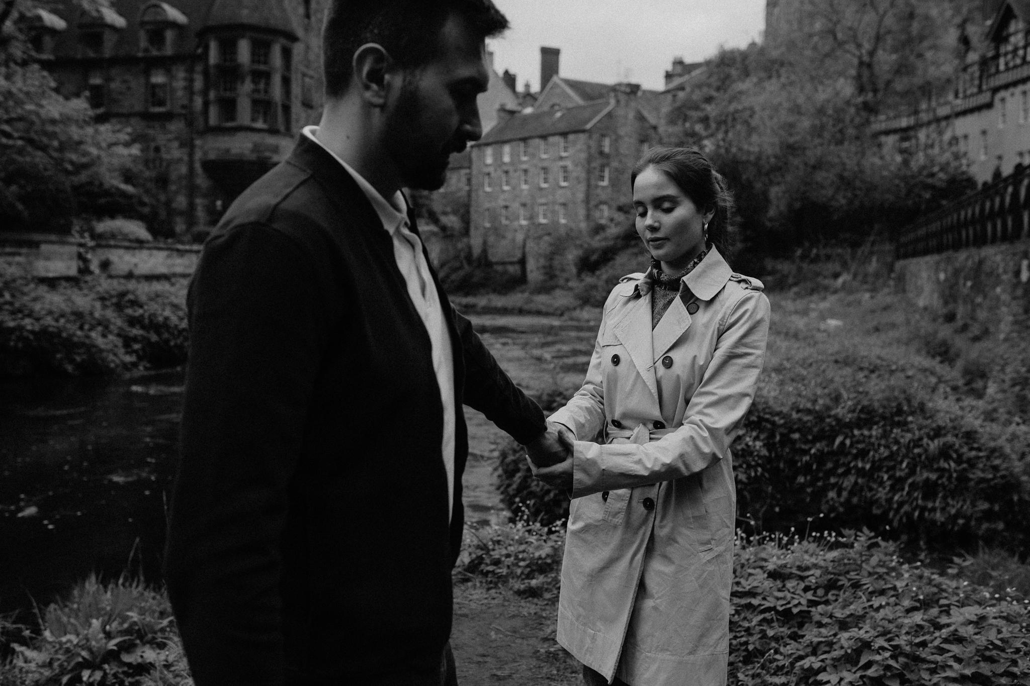 Edinburgh, Scotland Dean Village couples portraits