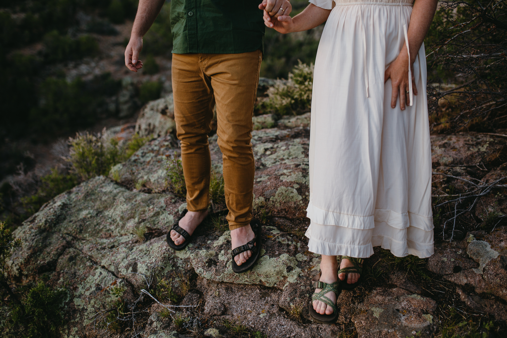 Black Canyon of the Gunnison National Park engagement photo