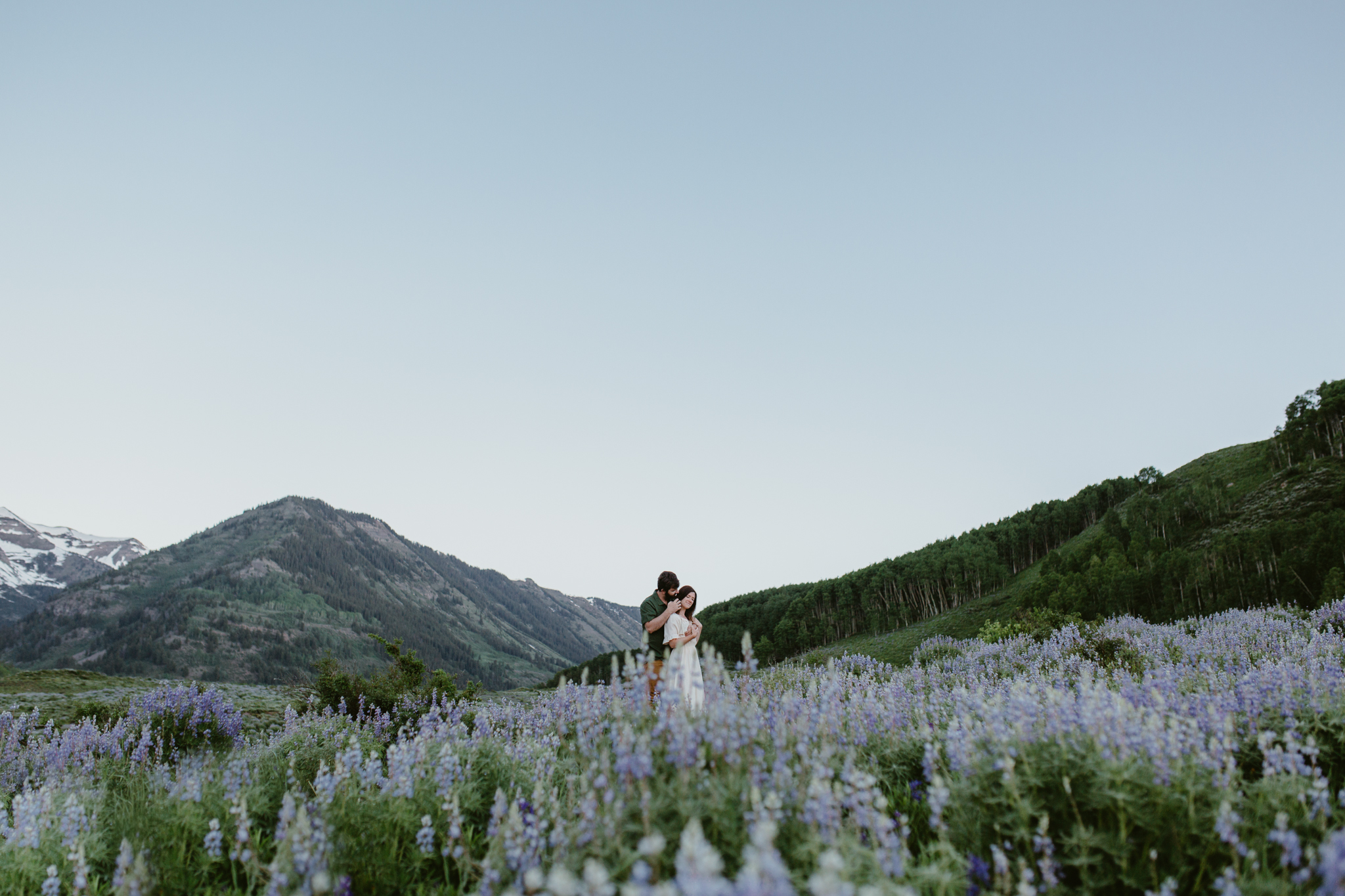 Crested Butte wildflowers engagement photos