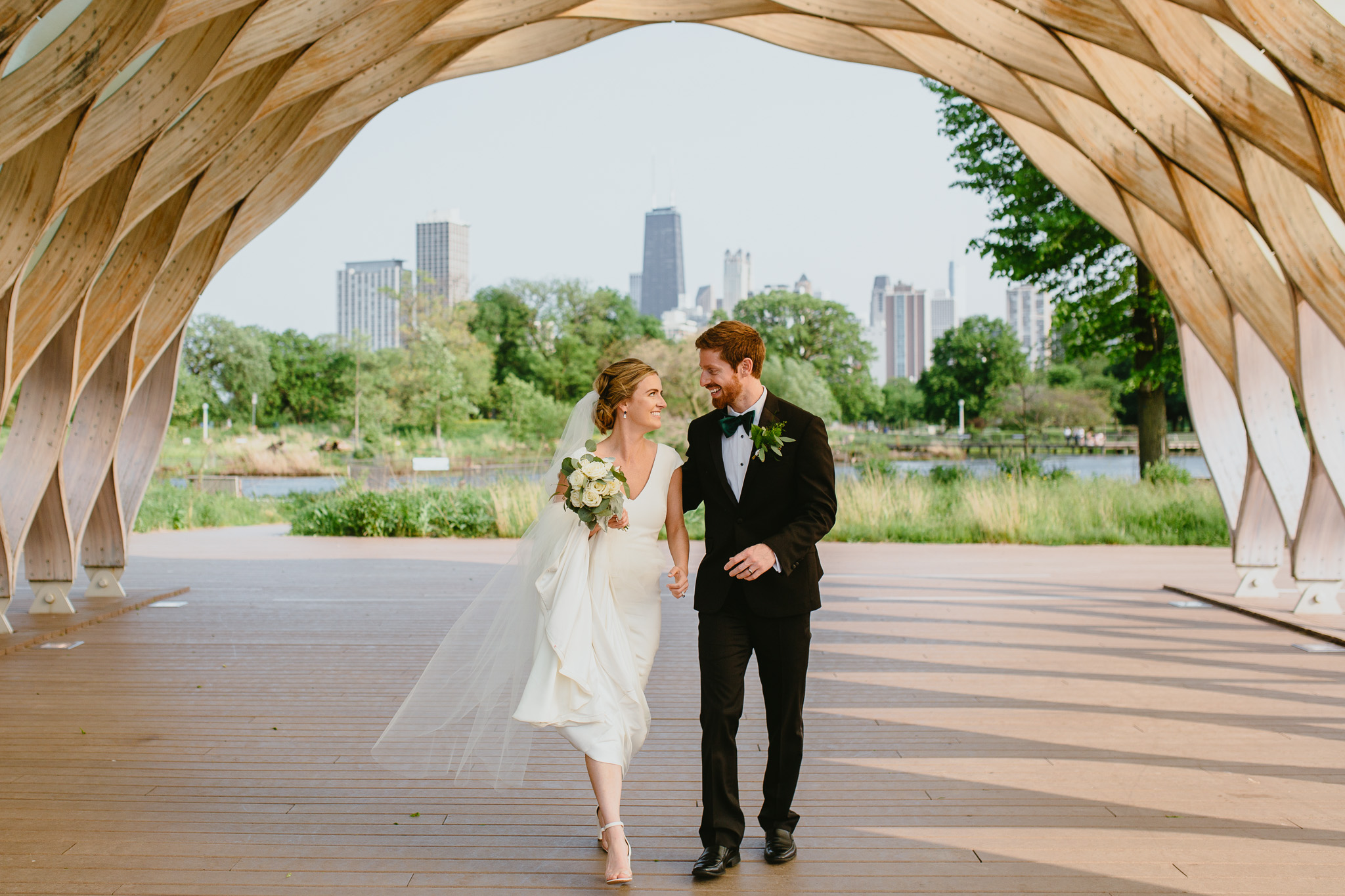 Wedding portraits at Lincoln Park, Chicago