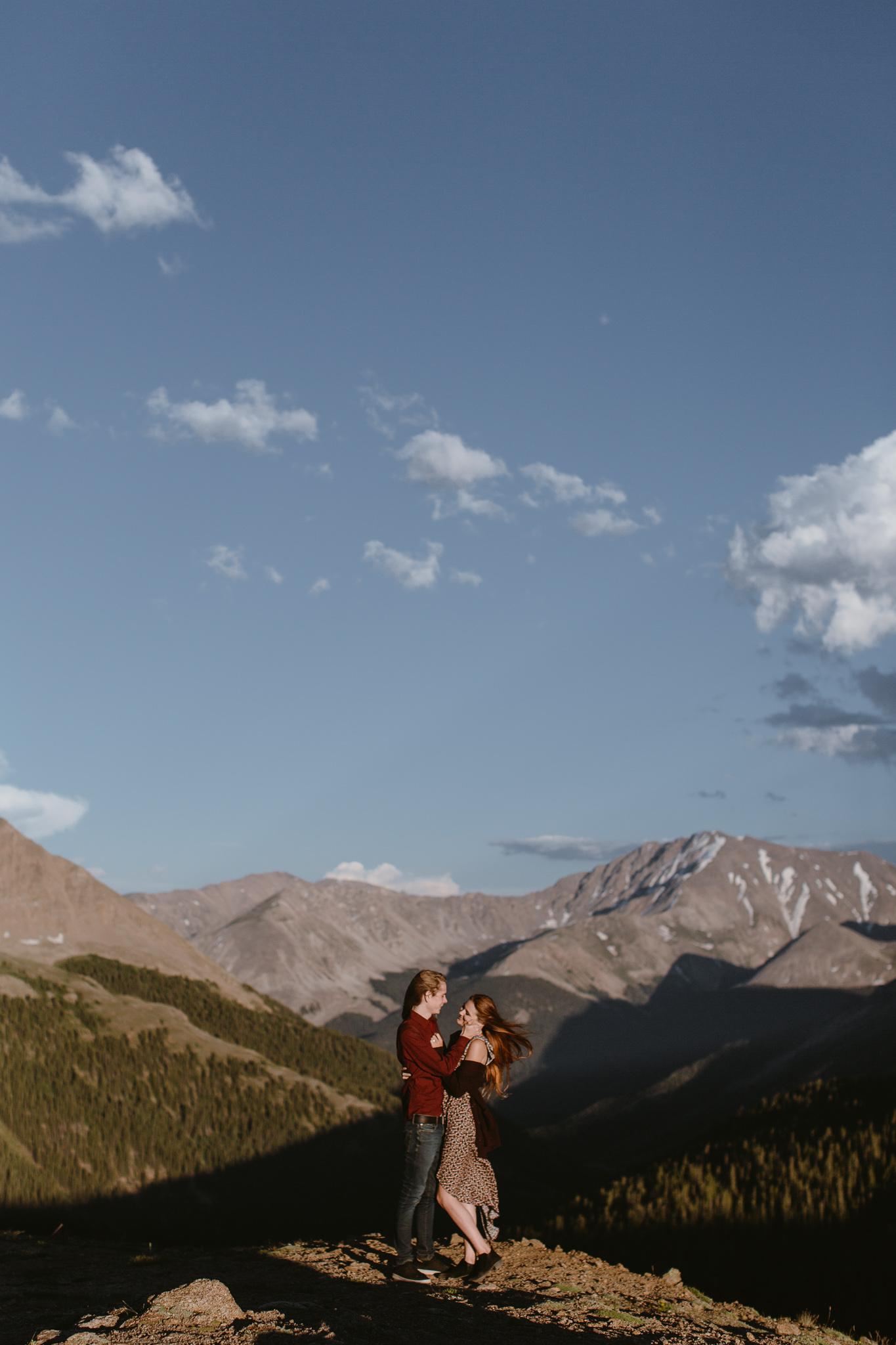 Independence Pass Adventure Engagement Aspen, Colorado