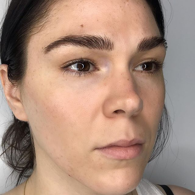 Touch up on Mo. 8 weeks healed ✨. Thank you! : : : : : : : : : : :  #fluffybrows #beforeandafter #microblading #browtransformation #brows #browbabe #permanentmakeup #hairstrokes #realistictattoo #eyebrowtattoo #browmakeover #cosmetictattoo #cosmetictattooing #featherbrows #browsonpoint #fluffybrows #pmu #naturalbrows #browsnyc
