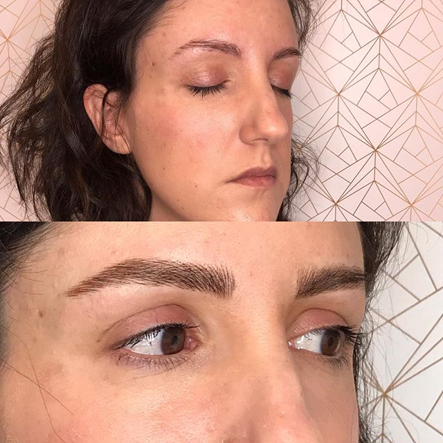 Building the perfect brows for Maria. 🌹✨ . . . . . #fluffybrows #beforeandafter #microblading #browtransformation #brows #browbabe #permanentmakeup #hairstrokes #realistictattoo #eyebrowtattoo #browmakeover #cosmetictattoo #cosmetictattooing #featherbrows #browsonpoint #fluffybrows #pmu #naturalbrows #browsnyc #browenvy #archaddicts #pmubrows #naturalmicroblading #hairstroketattoo #microbladingnyc #browlift #browtattoo #eyebrowtattoo #browgoals
