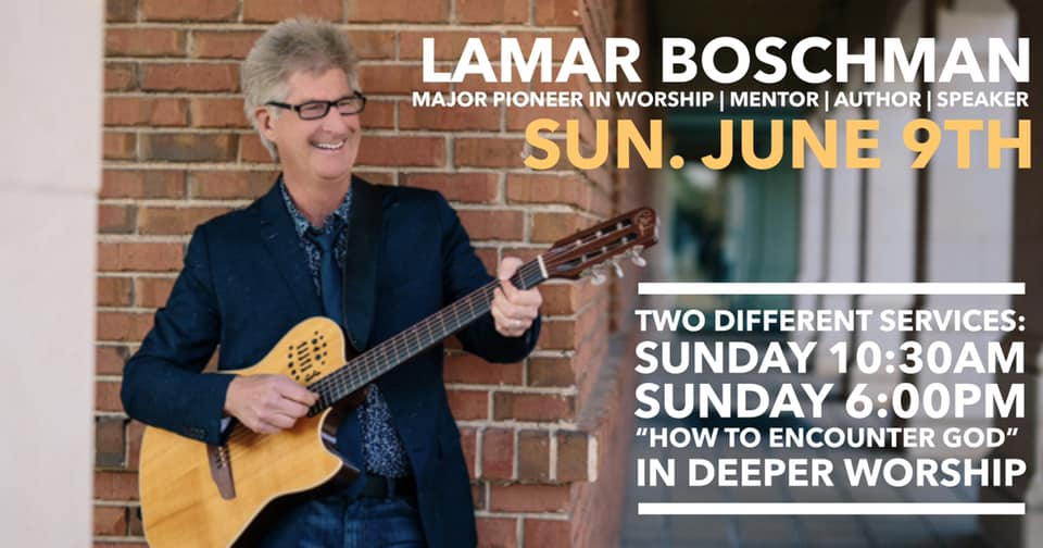 Lamar Boschman, is a catalytic keynote speaker, a prolific author and a pioneer of today's worship who equips leaders and churches to encounter God, ( Lamarboschman.com ). Lamar and his wife Kimberly, will be coming to Father's House Church on June 9th.   We are beyond excited to learn from him and his years of experience, discovering why we worship, how we worship, and that we were created to live worshiping our Creator. He will be speaking Sunday morning June 9th, ready your heart, and clear your schedules, it's going to be amazing.