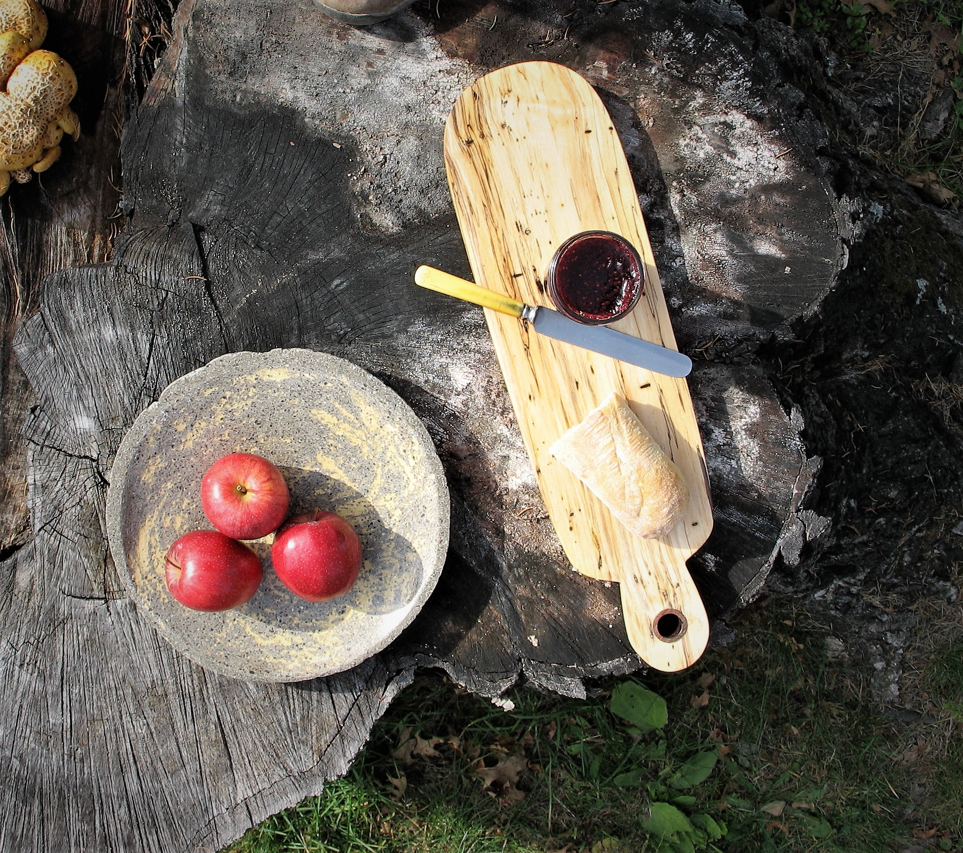 concrete plate and bread board.JPG