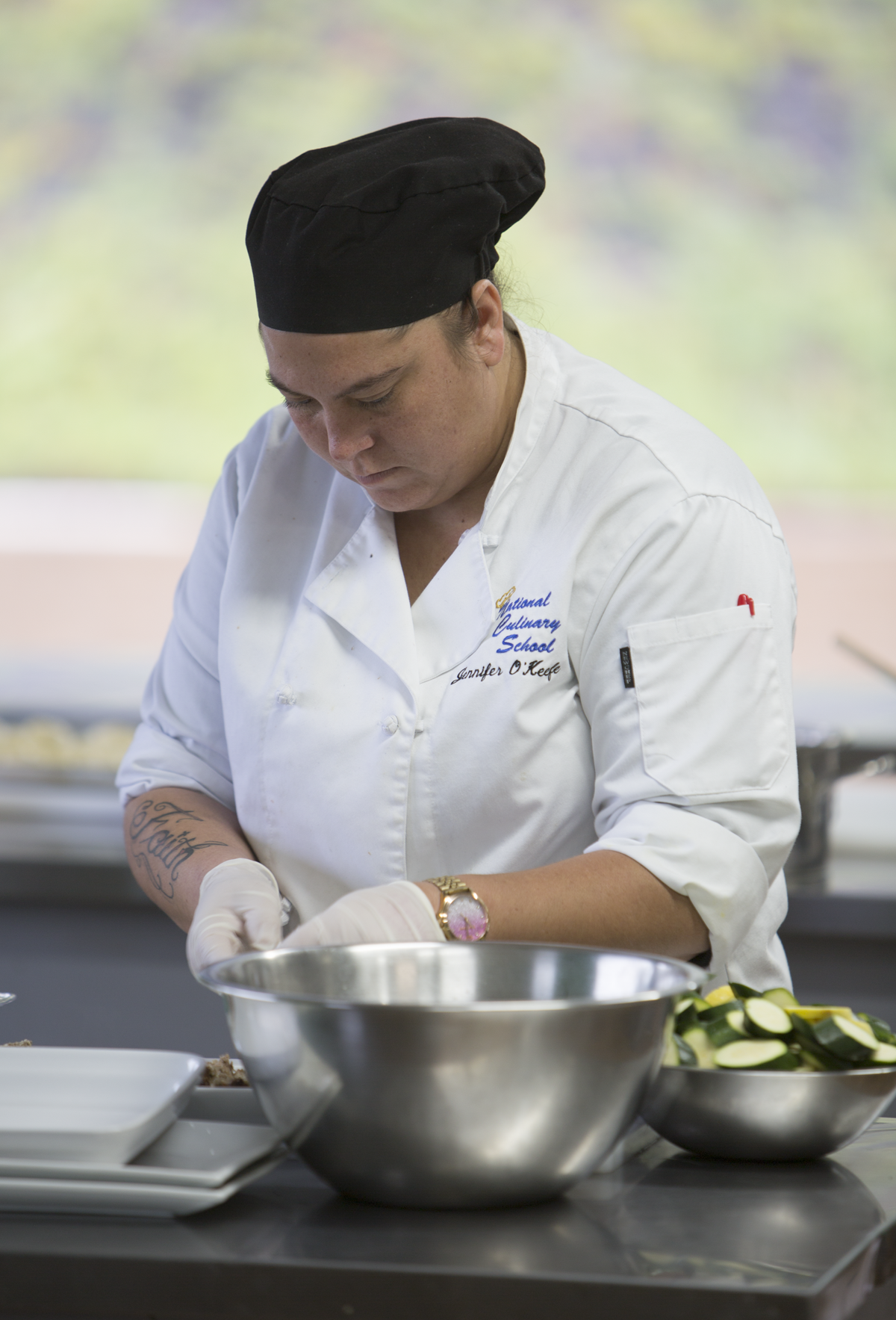 Culinary School Scholarship - JenniferUpon graduating from the program Ending the Game, Jennifer was awarded a scholarship to attend Culinary School. We are proud to announce that she completed and graduated in November 2018 and is now closer to fulfilling her dream of becoming a chef.