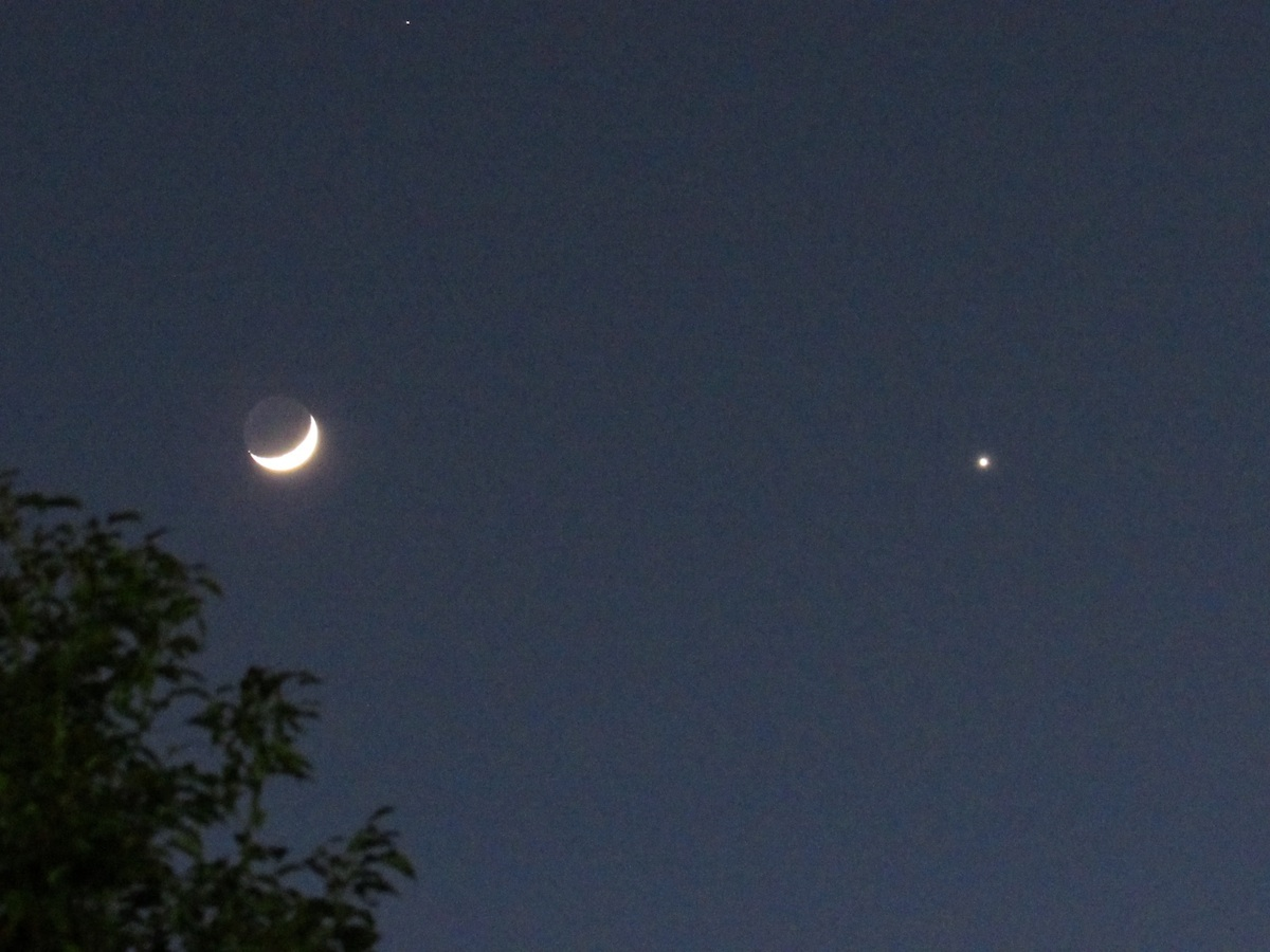 Tiny Worlds - the Moon, Jupiter and Venus