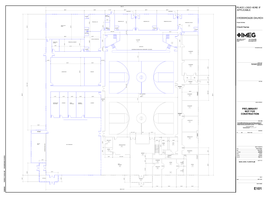 Conceptual Floor Plan —  Goal to start construction by 2021