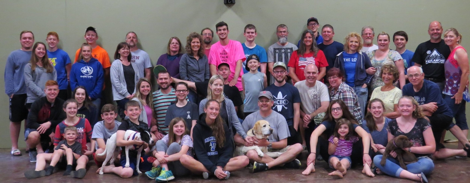 Our army of volunteers from our Memorial Day Work Weekend in May 2018