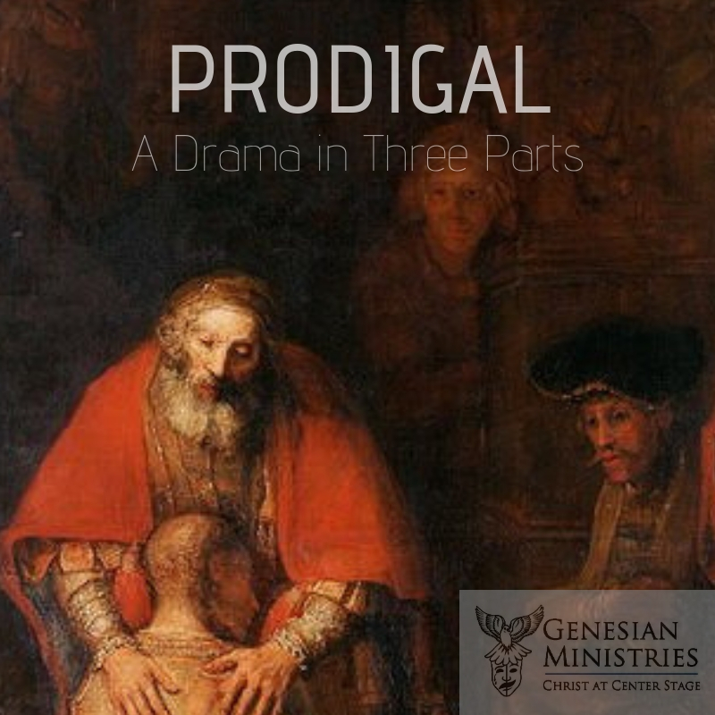 Prodigal  is a three-act drama that dives into one of the most famous parables of all time. The story follows our three main characters from  The Prodigal Son,  giving them a backstory, a dramatized retelling of the main story, and a stunning final act that shows the aftermath of the son's reunion with his father and older brother. Themes of mercy, son-ship, forgiveness, shame, and despair fill this performance. Ideal as an accompaniment to an intense retreat, night of healing, or as a means of reversion. Ages 12 and up suggested (due to intense situations of peril and despair).