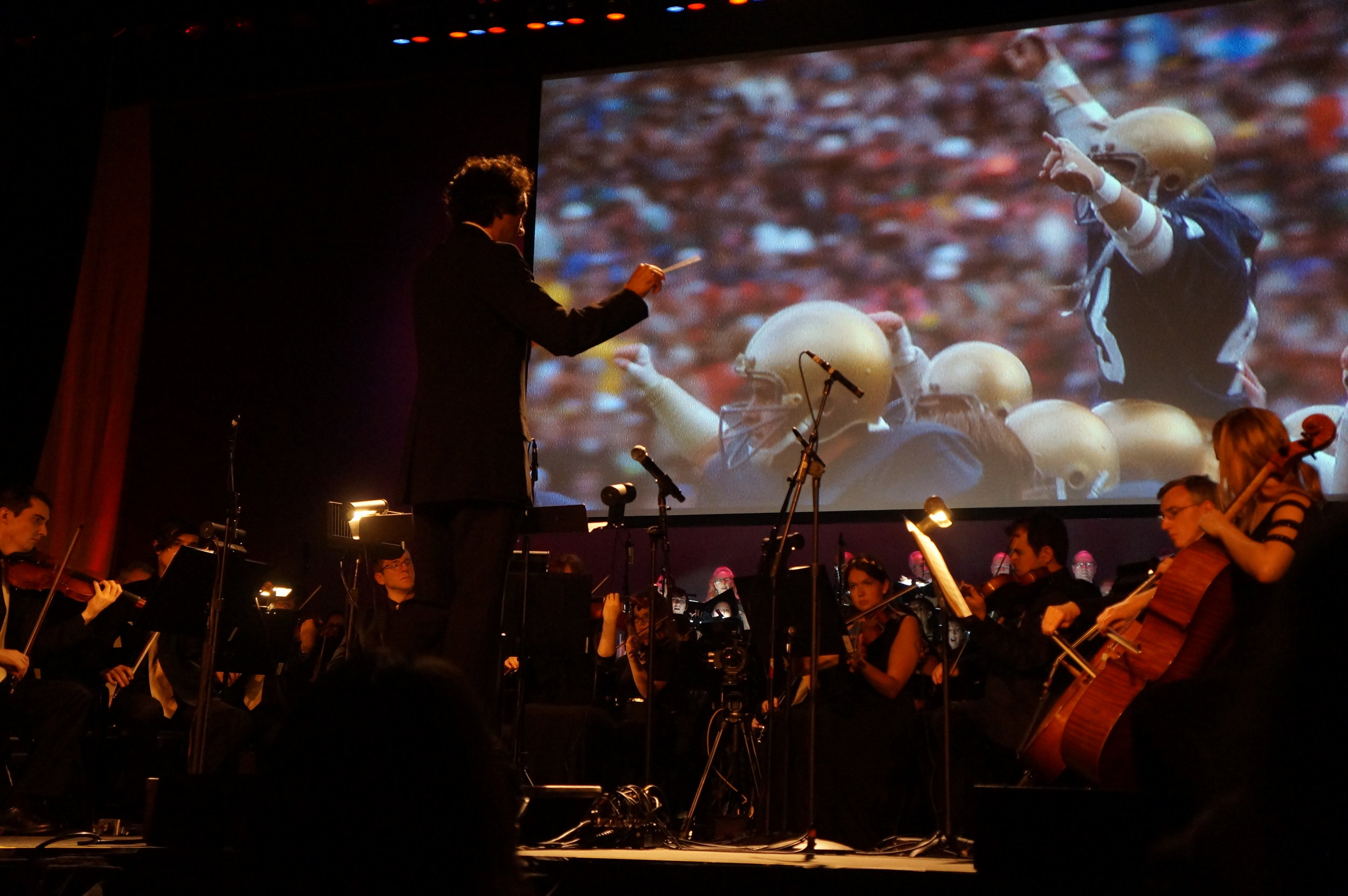 "Conducting Jerry Goldsmith's ""Rudy"" with the Golden State Pops Orchestra for the 35th Anniversary of Varese Sarabande."