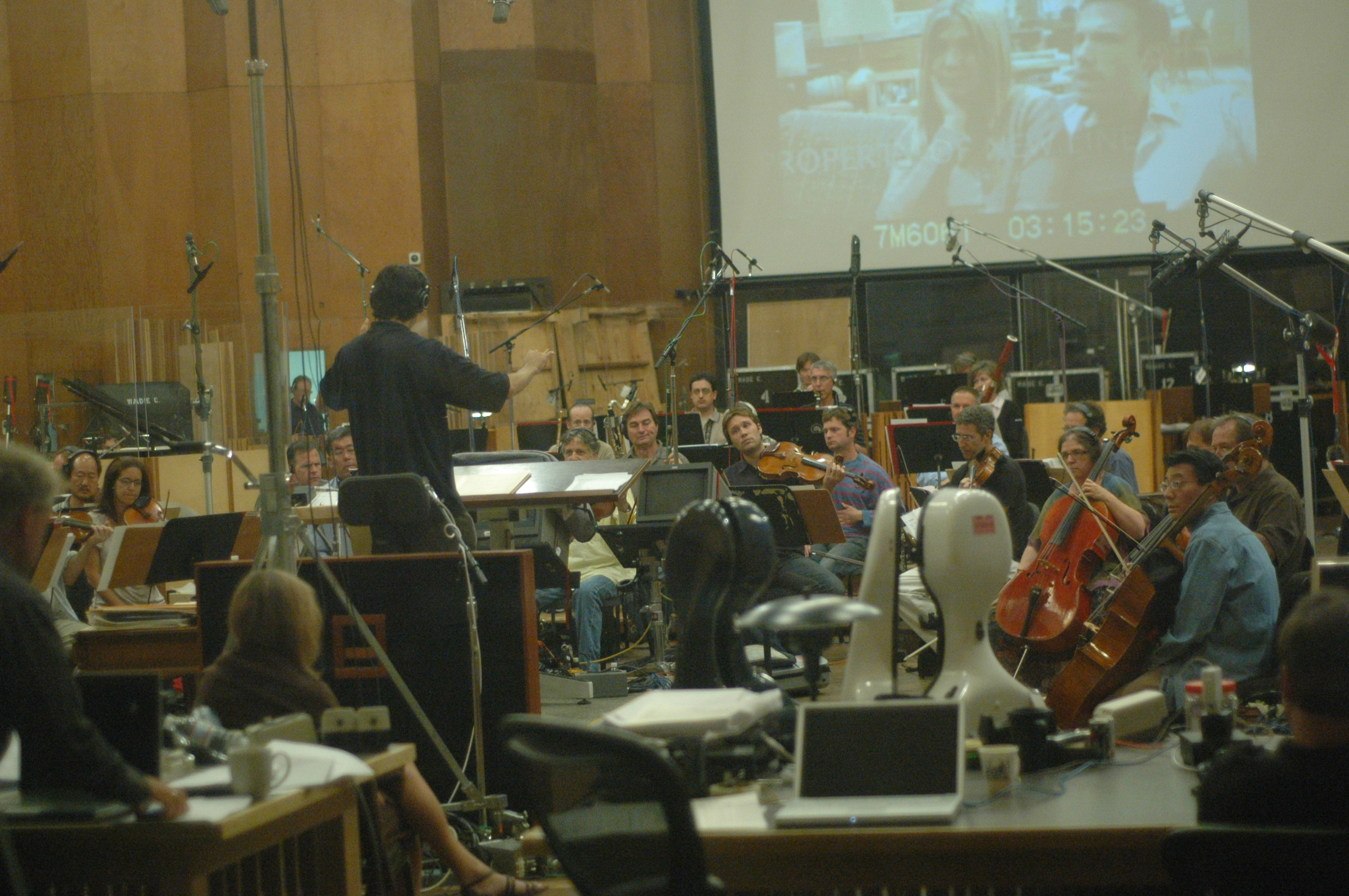 He's Just Not That Into You recording session at the Newman Scoring Stage, 20th Century Fox