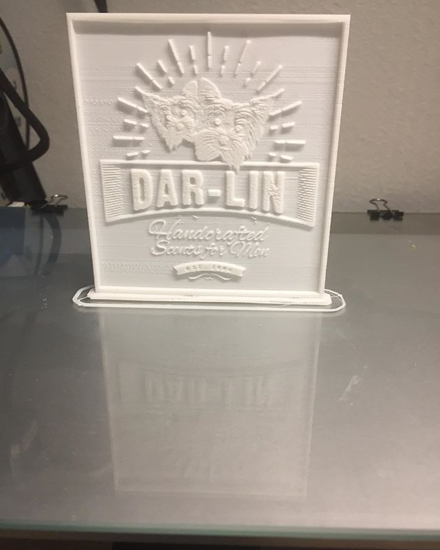 My girlfriend wanted me to come up with something for a friends company that he is getting off the ground it's been five years in the making this is just a prototype mock up idea of their company logo The print isn't perfect tinkering is the world of 3-D printing and making #openmindindustries #openmindindustries3dprintingservices