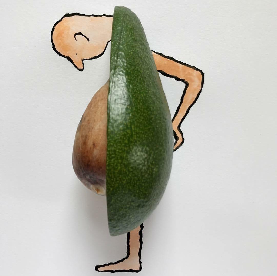 "Jean Jullien, ilustración para ""Pidapipó Gelateria"",2017."