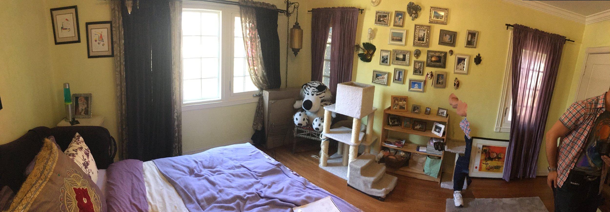 Teenage boy's bedroom before