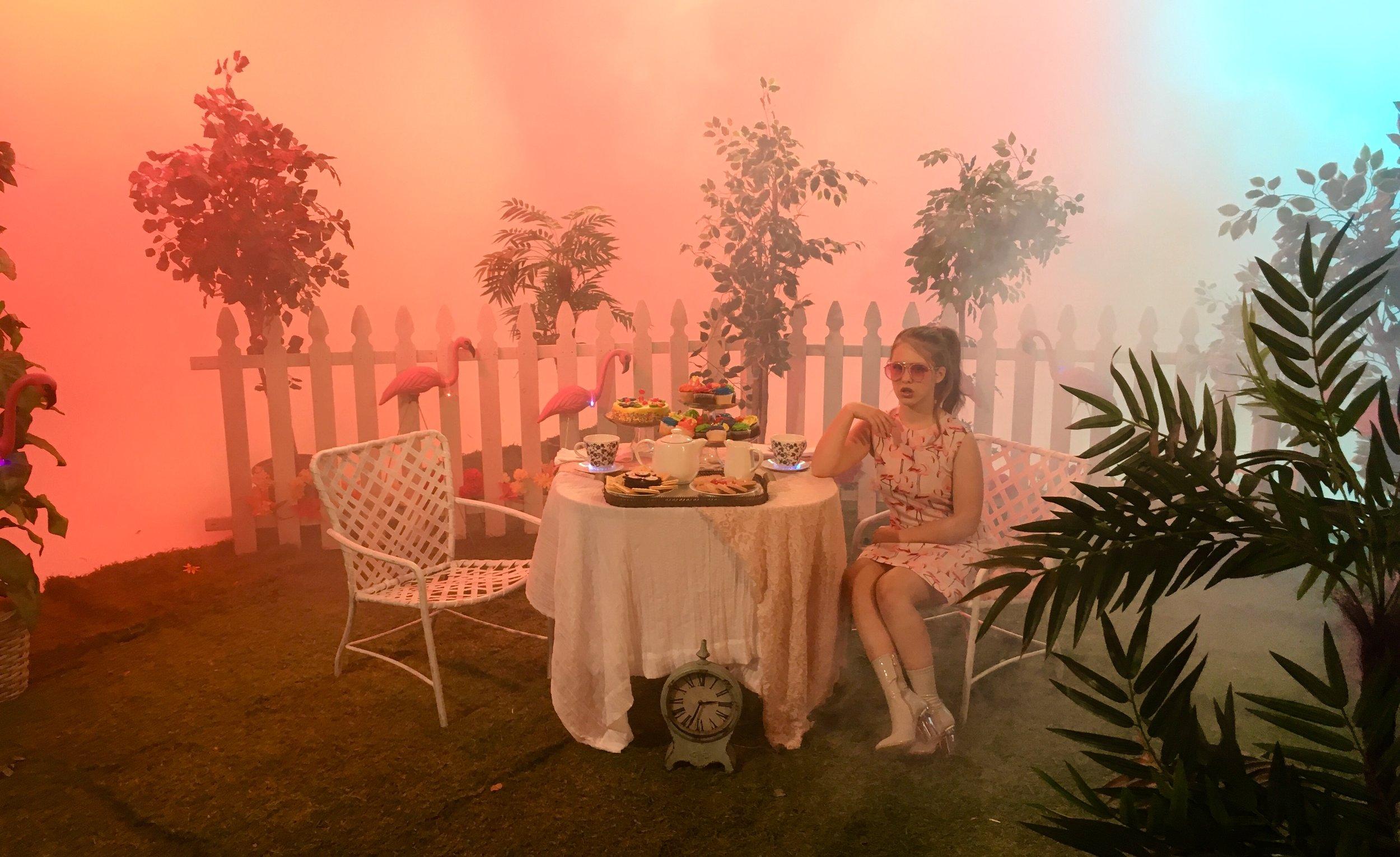 Falmingo / Alice in wonderland tea party scene