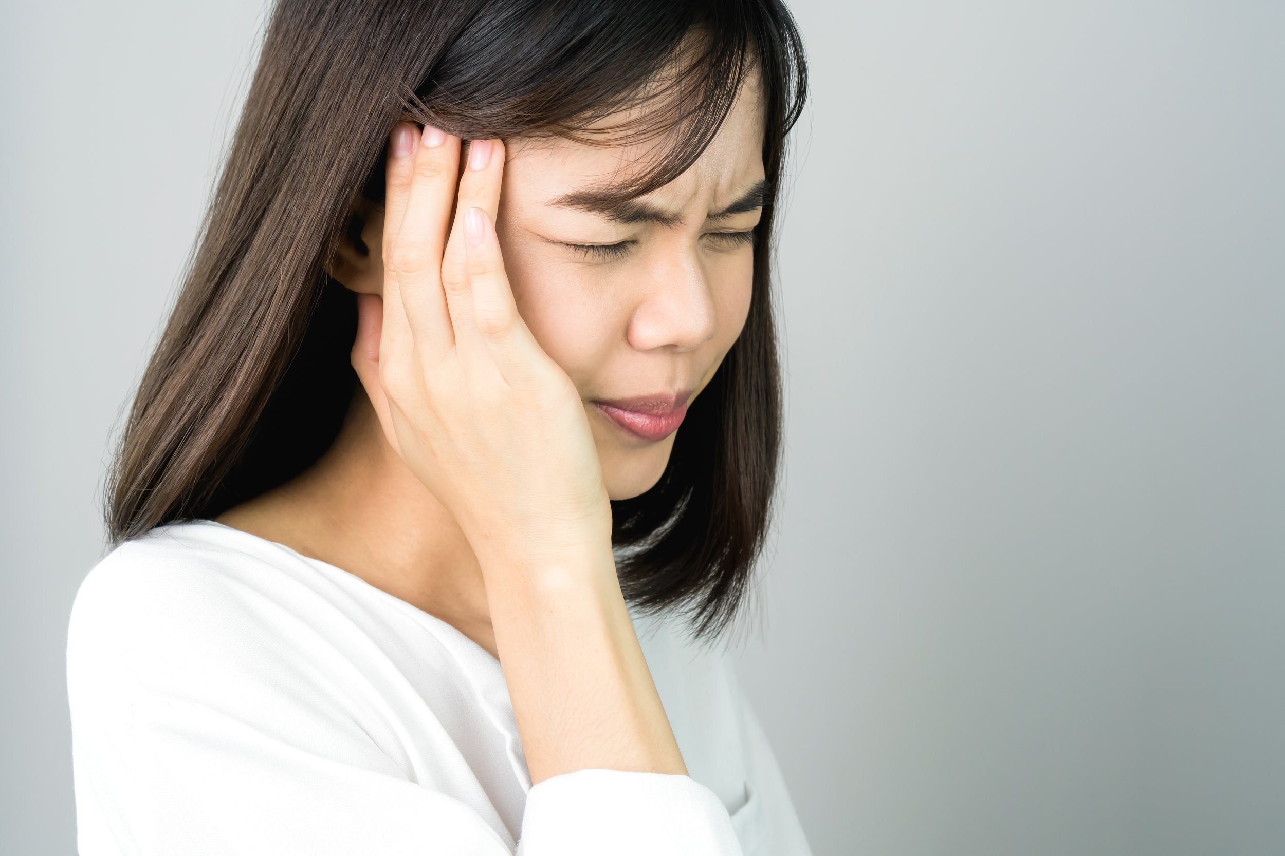 Patient showing signs of ongoing headaches