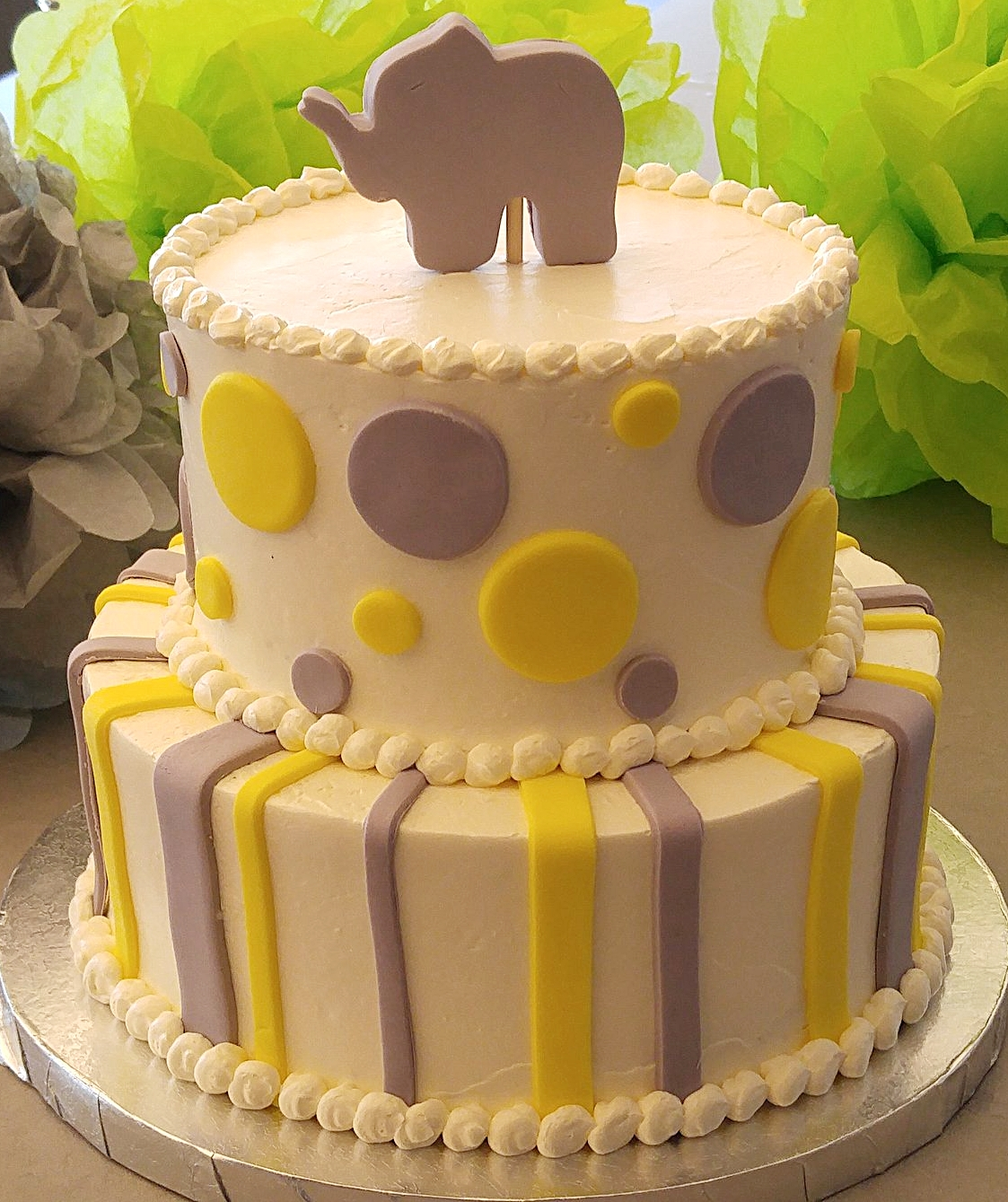Elephant Baby Shower Cake