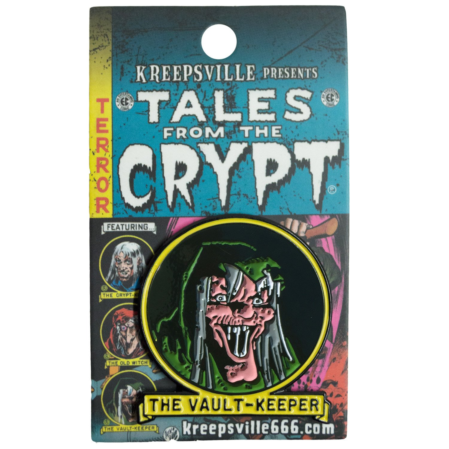 Tales From The Crypt Vault Keeper Enamel Pin Badge