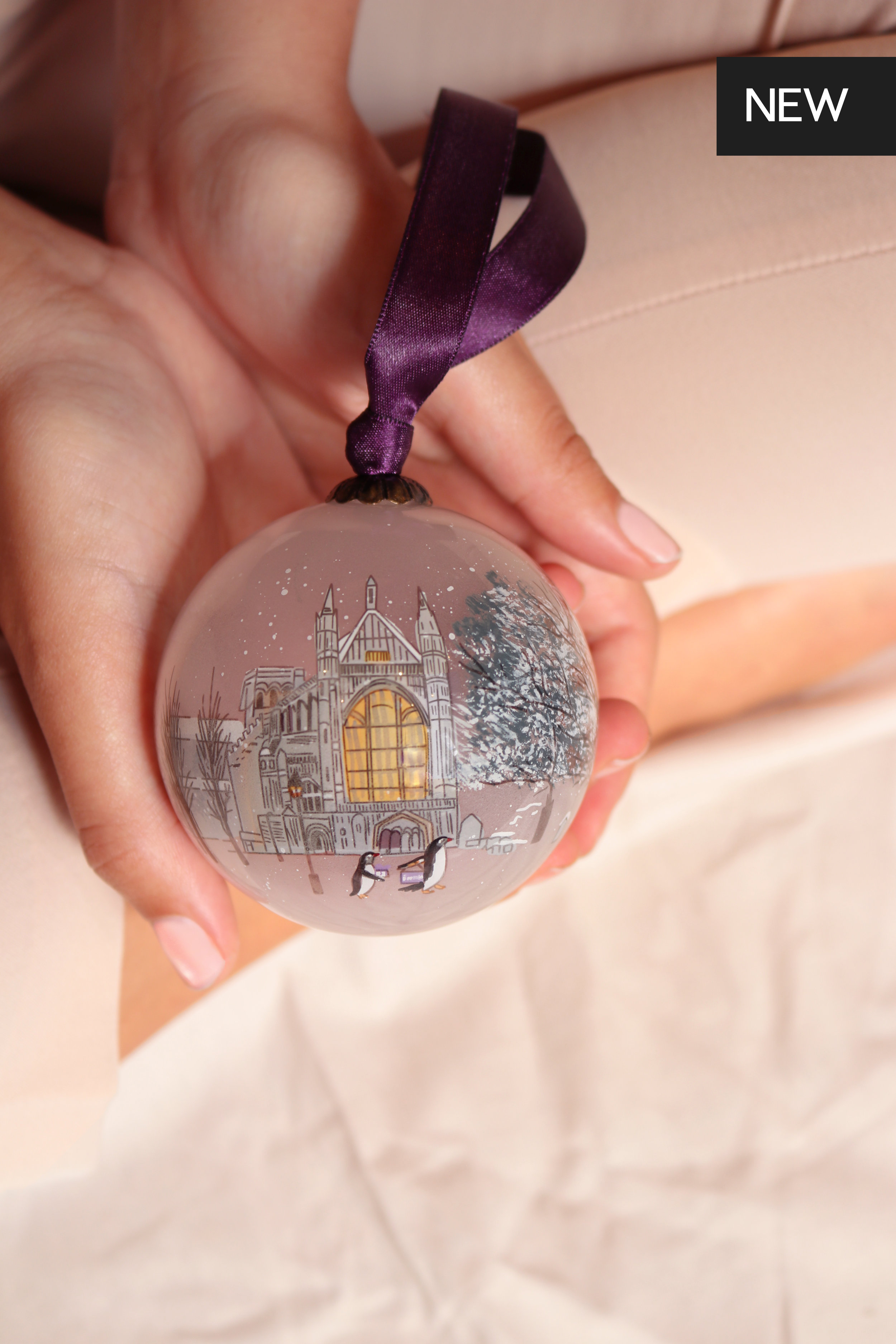 """<p><strong>The Winchester Cathedral Chorister</strong>Hand painted glass bauble<br>£25<a href=""""/area-of-your-site""""> Shop </a></p>"""
