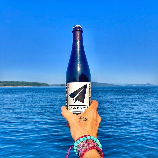 "Currently drinking: Mach-Limit from @blackprojectbeer • A view that you never tire of is the best view to call home. 🌊  Living on a small island with no services is a lot of work and everything takes extra time and effort. There isn't a lot of down time (like, ever) and there is a ""no-slouches"" rule out here 😂 Almost daily there is an opportunity to tackle new challenges and learn something and there are unending chances for physical work to keep in shape 💪🏼. And the views...well, when the work involves this view, it's work I will happily take on until the day I die. There is never a day that I fail to fall in love with my home and my view all over again. . . . . . . . . . #fortheloveofcraftbeer #blackprojectbeer #spontaneousbeer #pnw #pnwwonderland #hellobc #onanislandinthesun #thirstyexplorer #drinktheworld #brewwithaview #beerwithaview"