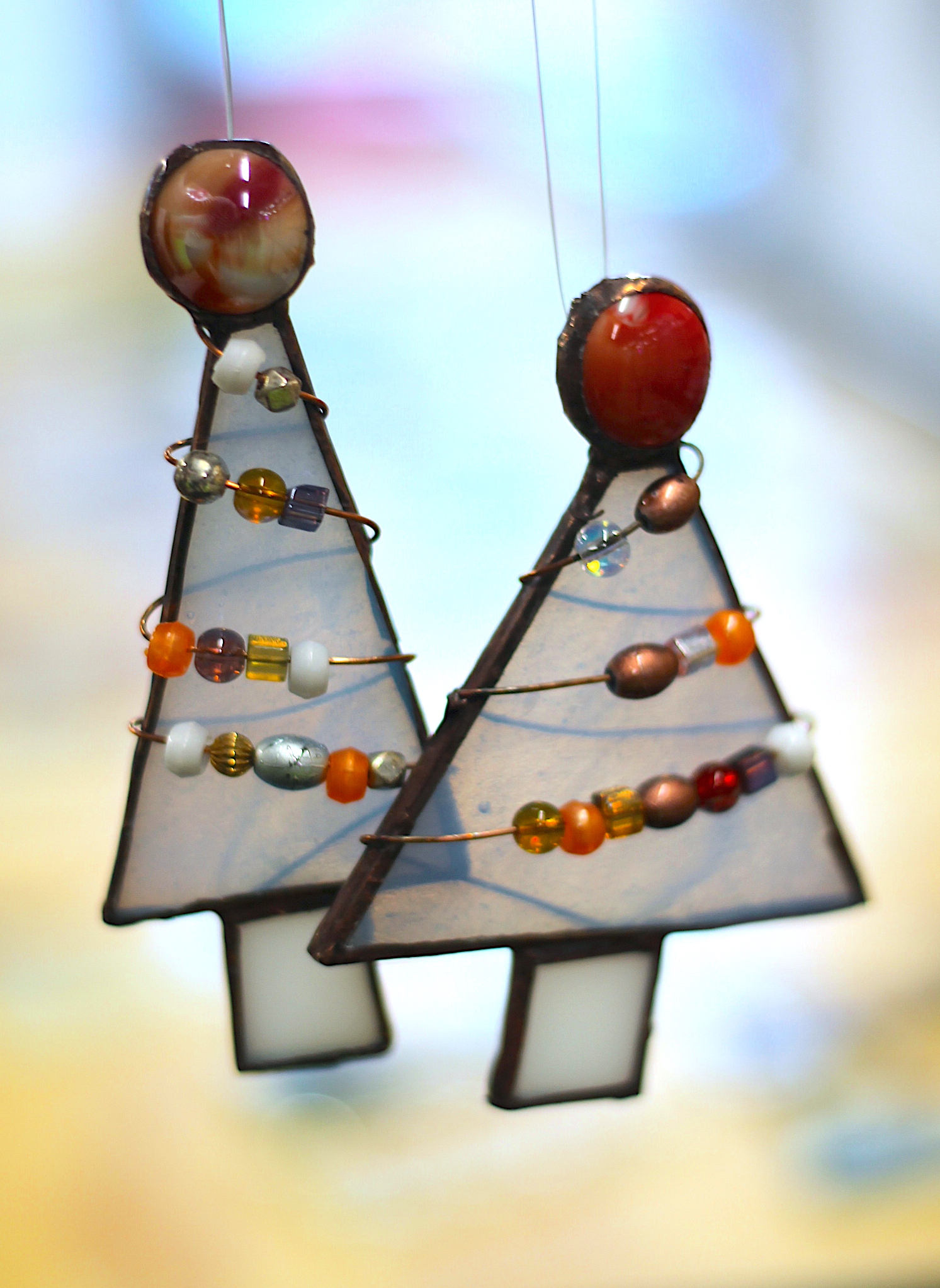 Art lab - Stained glass christmas trees.JPG
