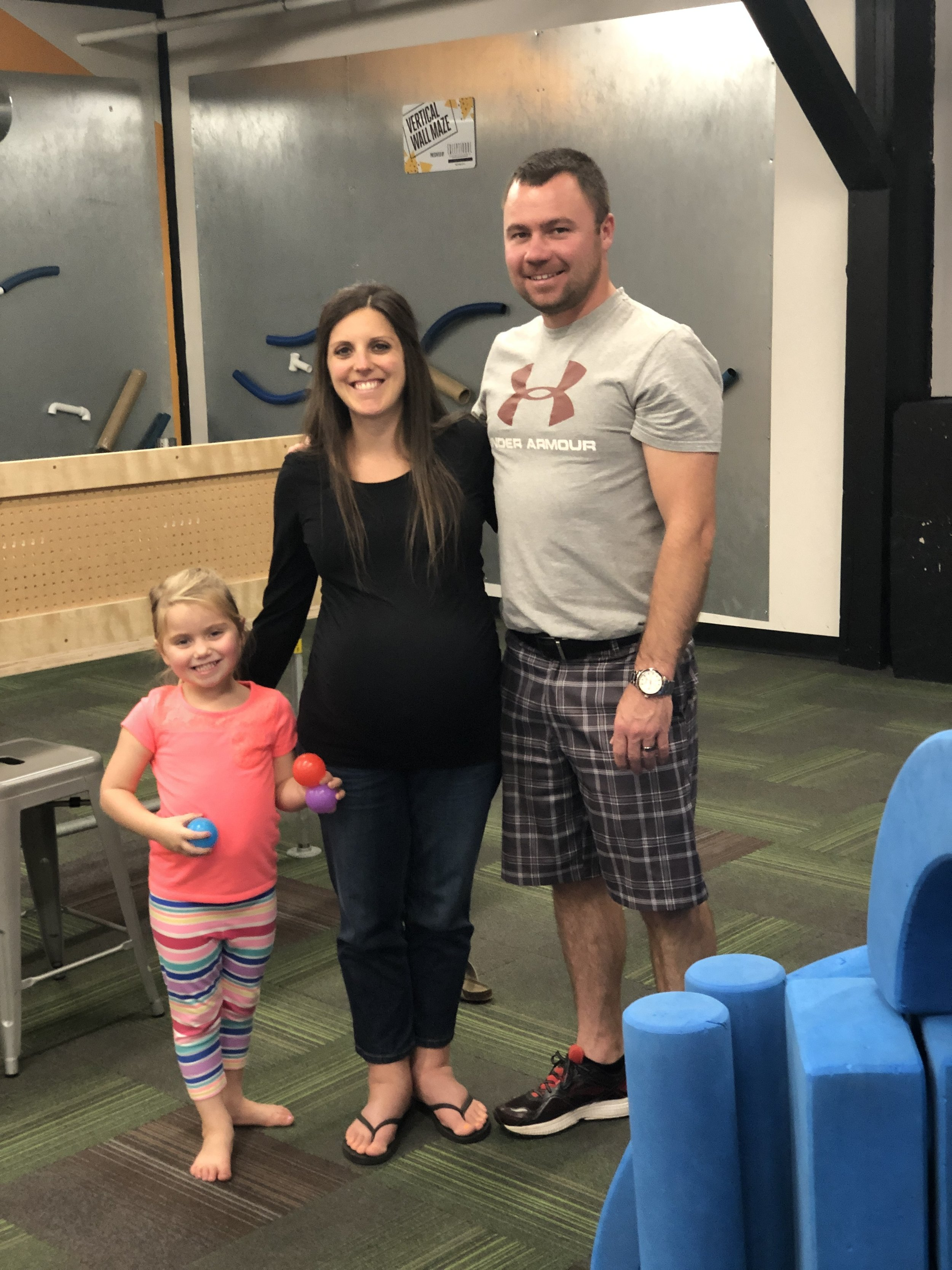 This cute family of 3 is having a special day together before little brother or sister arrive!