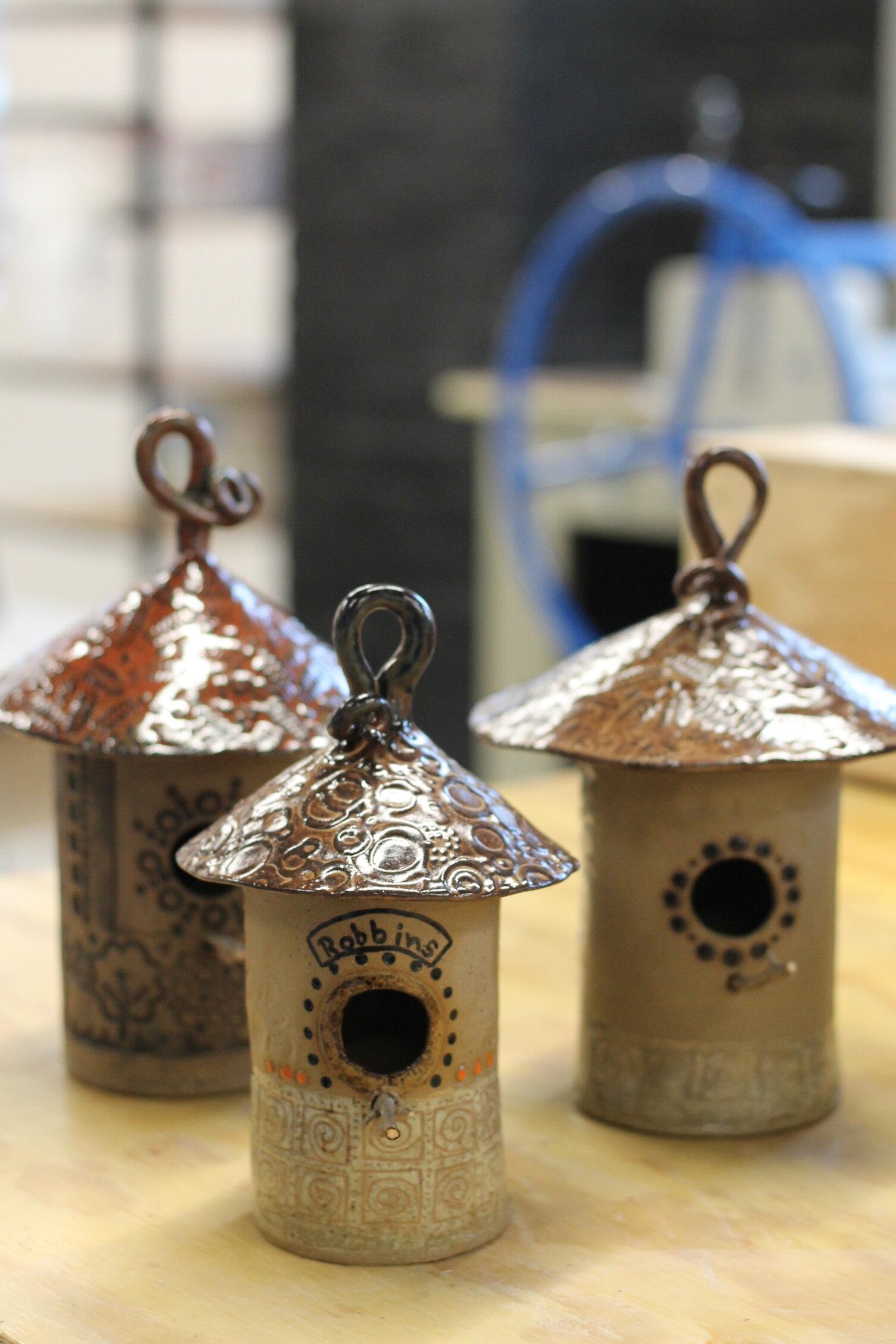 Pottery Birdhouses3.JPG