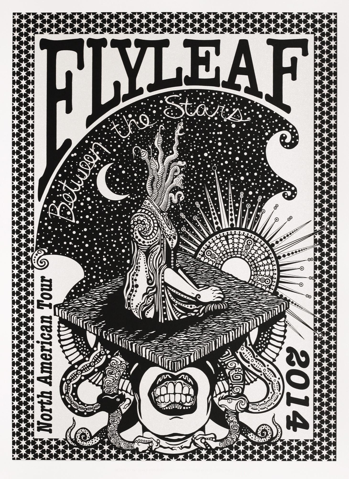 Pat Seals   Flyleaf Tour Poster   screenprint  2014
