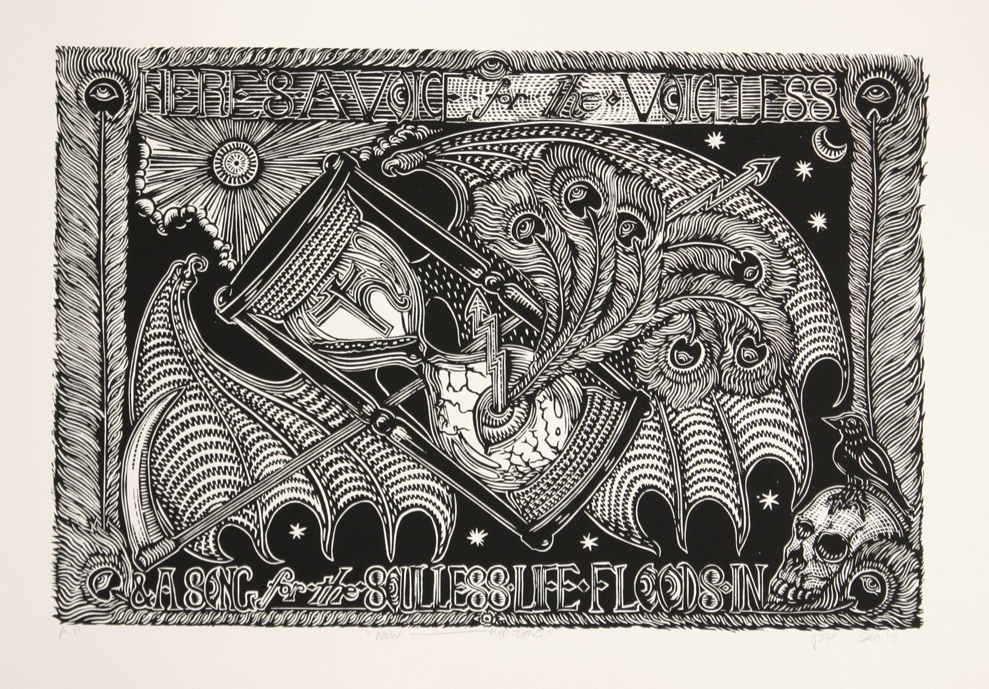 Pat Seals   New Horizons   woodcut