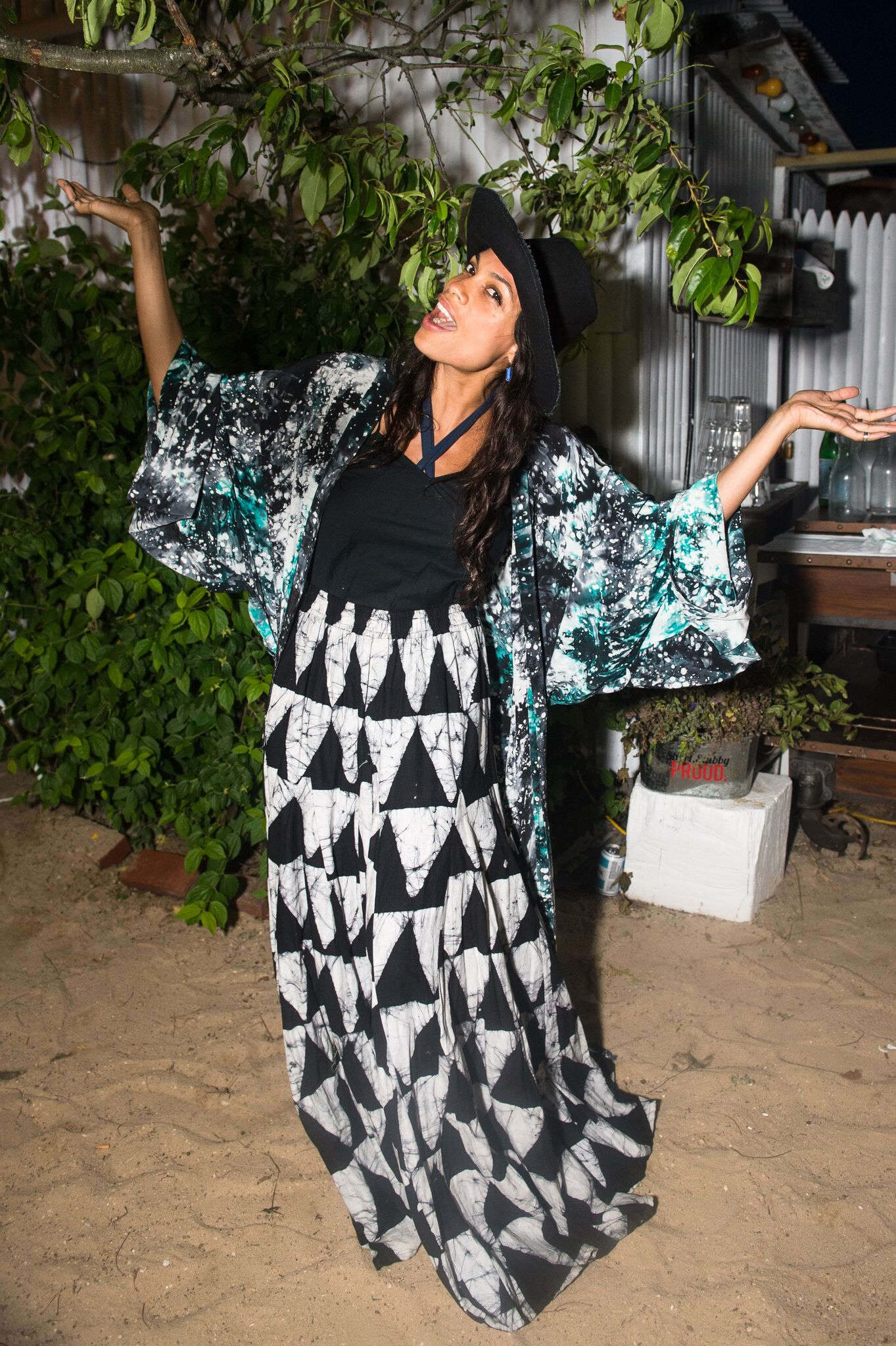 Rosario Dawson toasts Studio 189 with Grey Goose at Surf Lodge