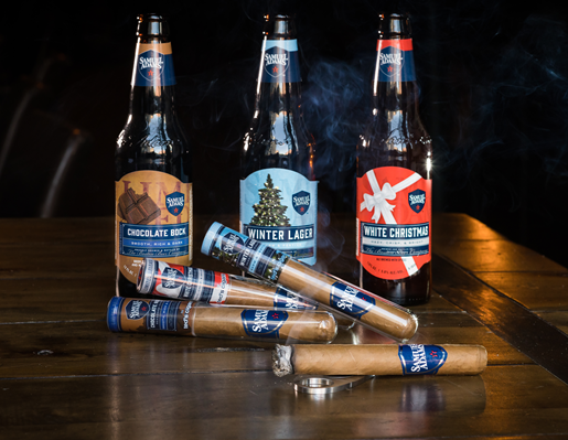 Limited-edition beer-seasoned cigars.