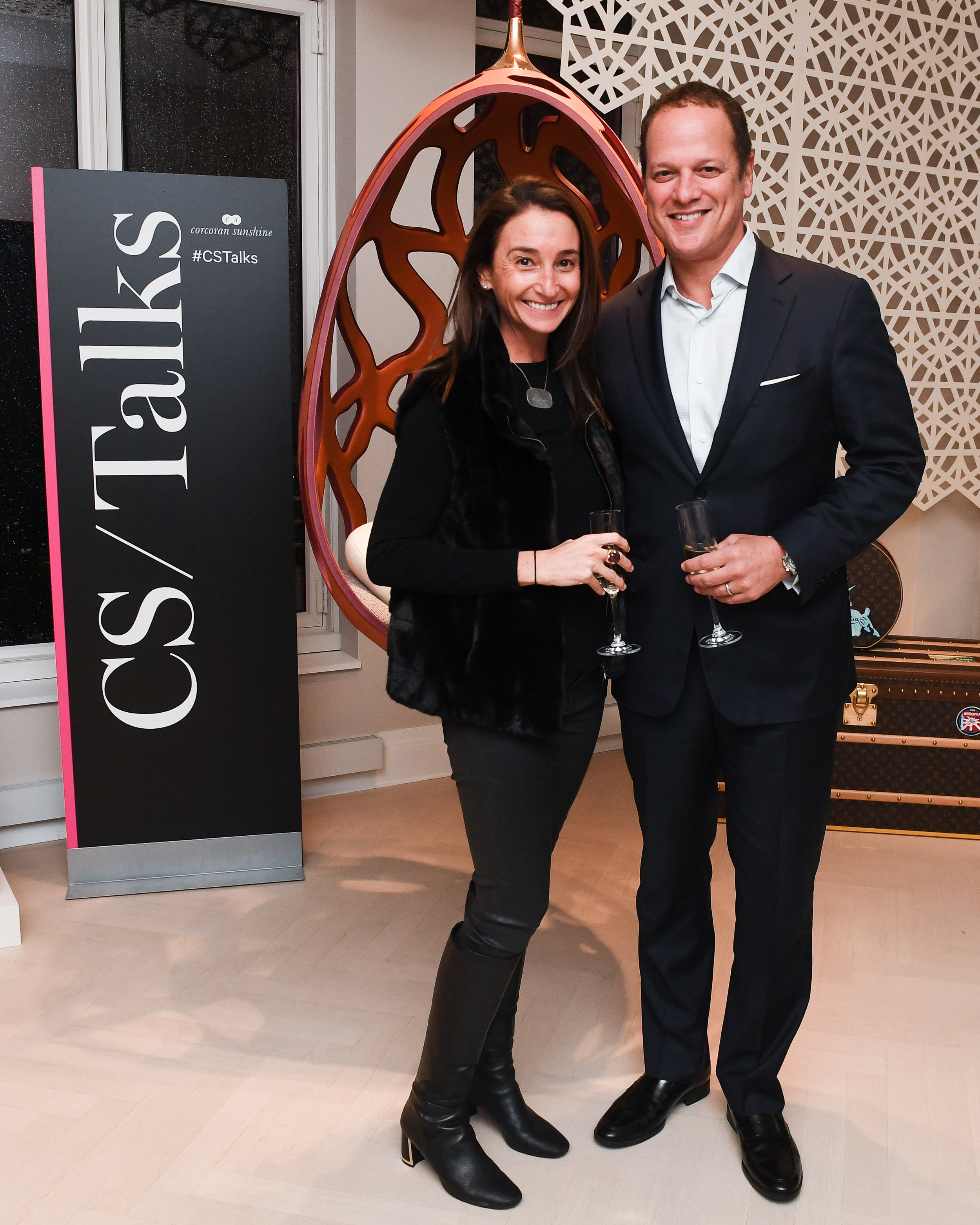 Kelly Kennedy Mack, President of Corcoran Sunshine, and Rob Vecsler, Silverstein Properties President of Residential Development, at the Louis Vuitton partnership at 30 Park Place Four Seasons Private Residences