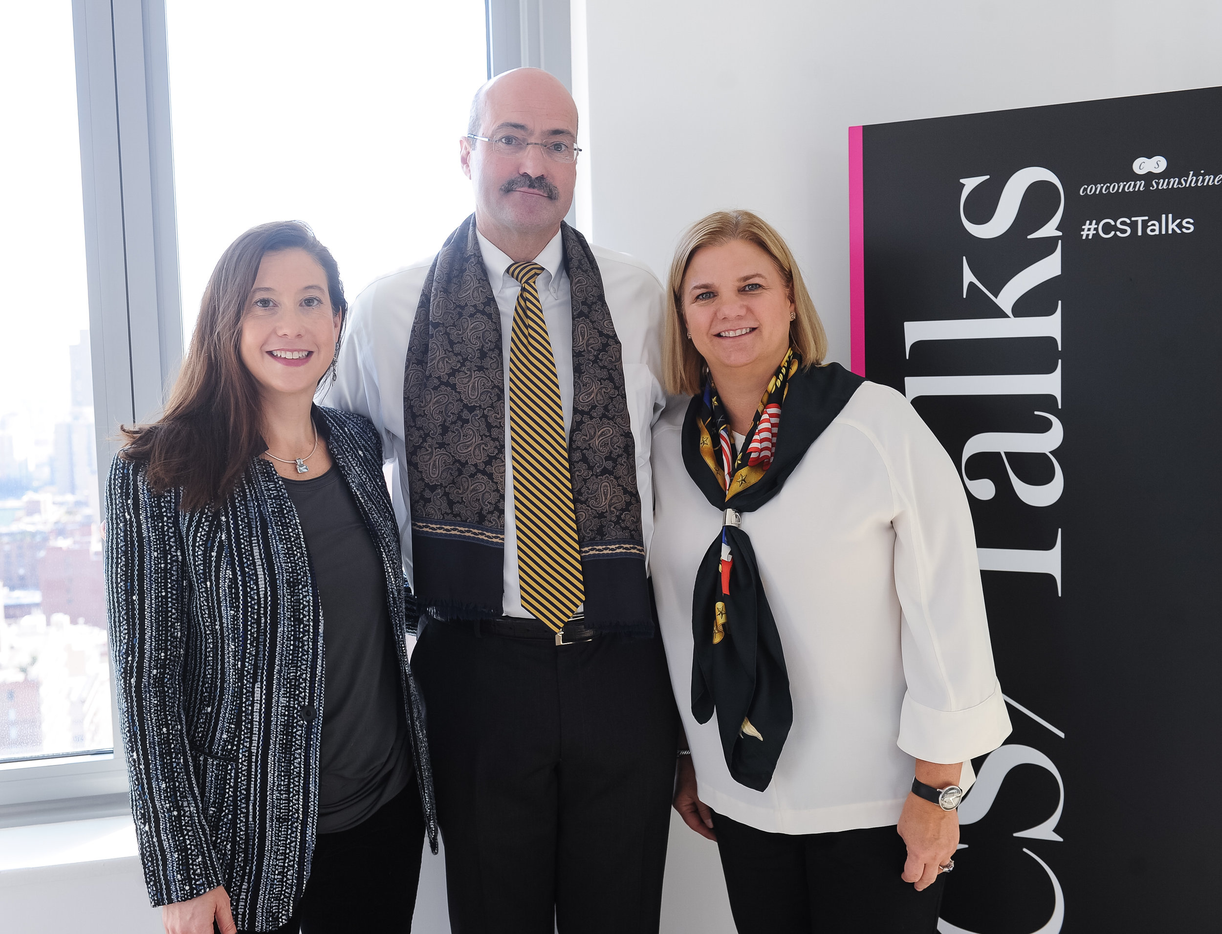 Tricia Hayes Cole of Corcoran Sunshine, and Doug Blonsky and Laura Hall of the Central Park Conservancy at  200 East 64 th Street