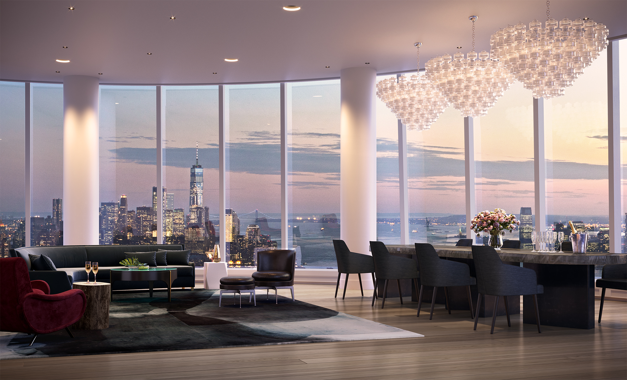 15 Hudson Yards Amenity Party Room - 2 - courtesy of Related-Oxford.jpg