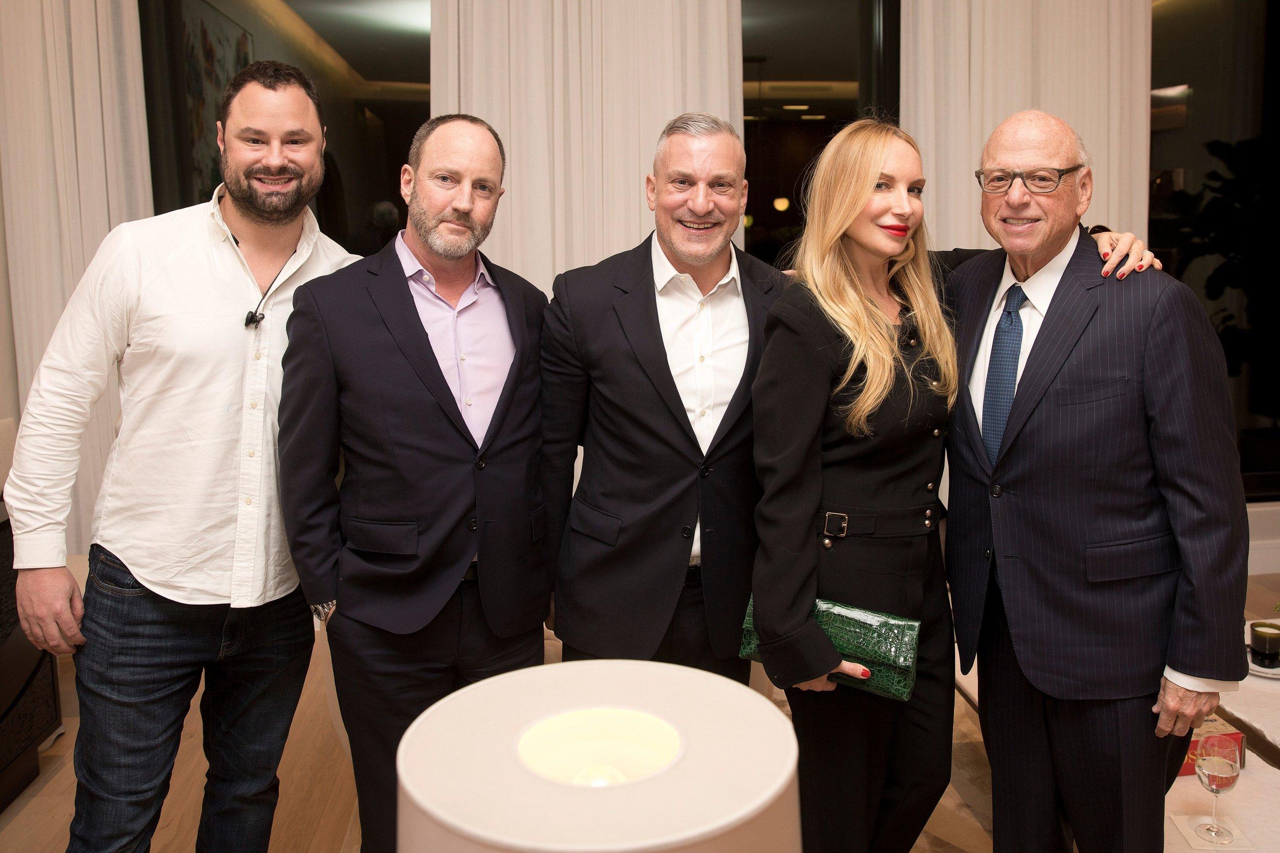 Dan Kaplan, Richard Lam, Brett Wolfe, Nicole Fuller, Howard M. Lorber.  Photo credit: Jason Malihan