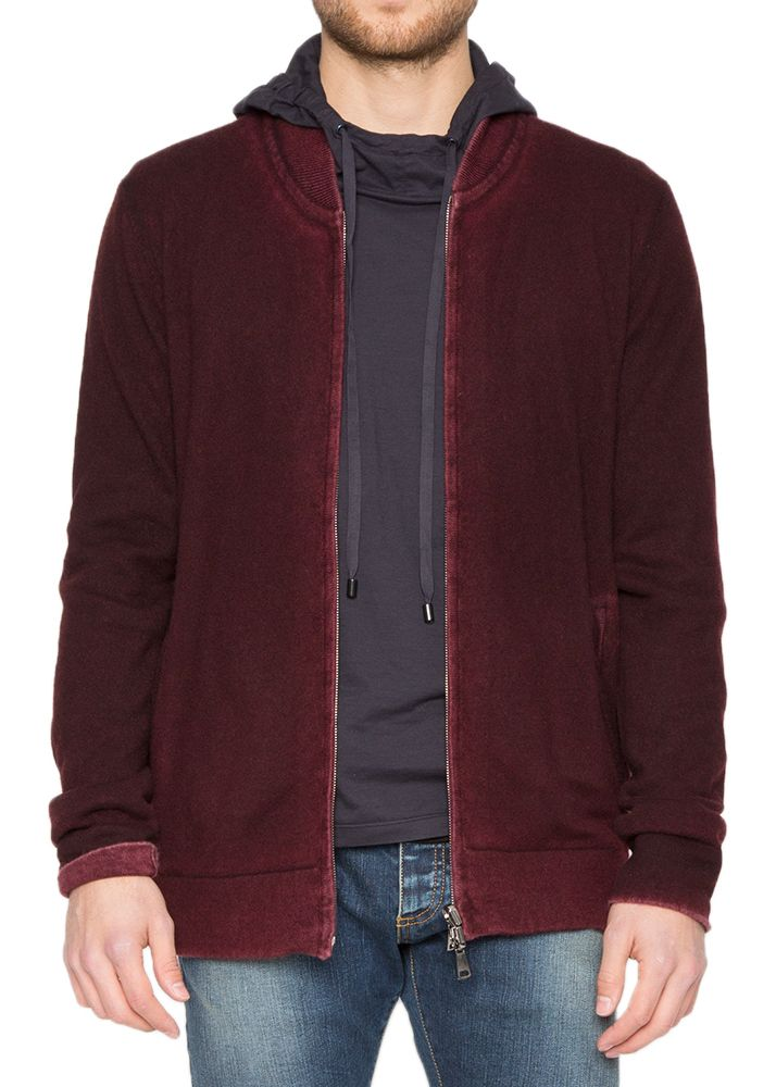Reversible Cashmere Bomber in Port
