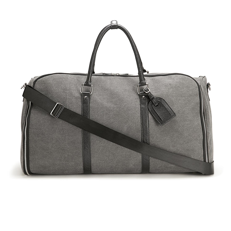 Charcoal Canvas Weekender Garment Bag