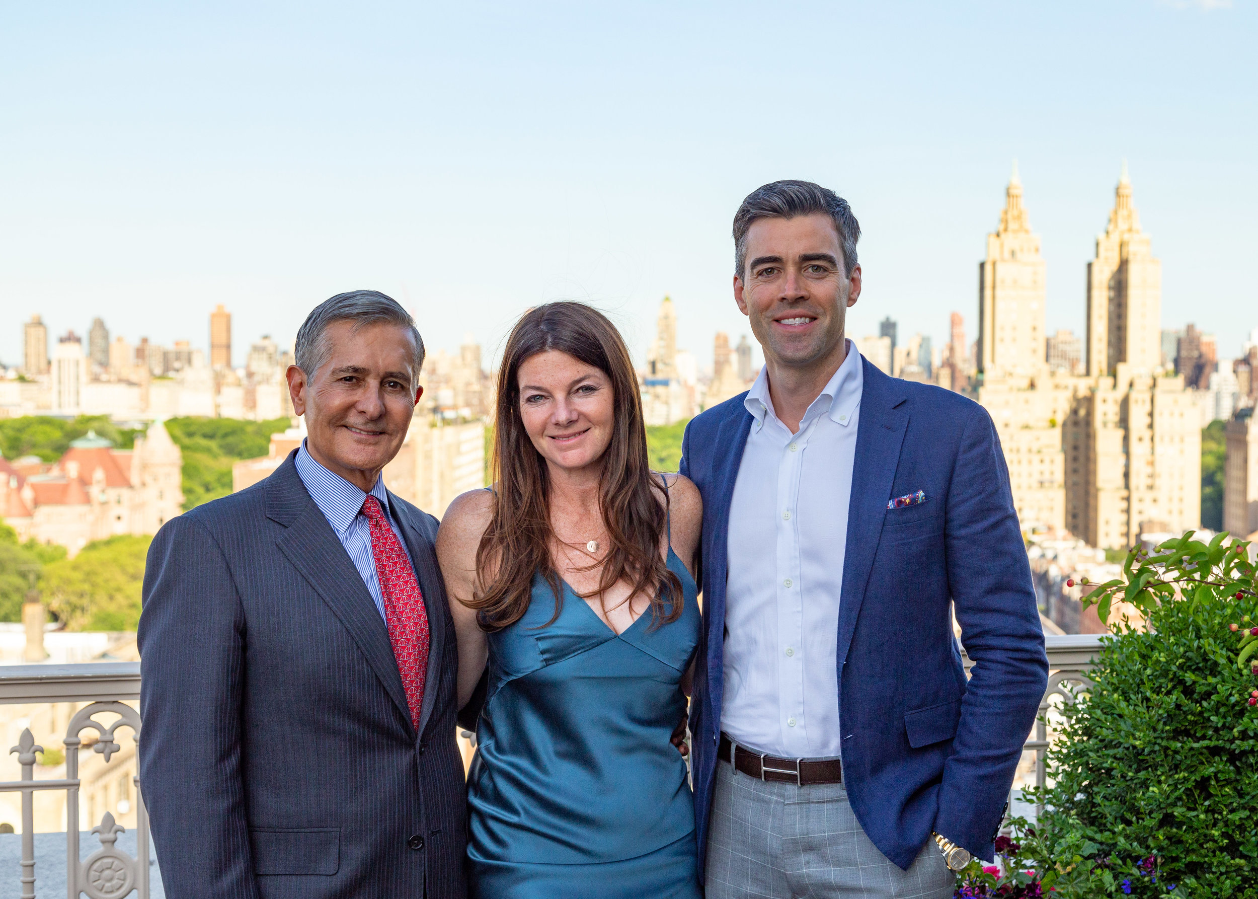 Roger Erickson, Jennifer Kalish and Noble Black of Douglas Elliman
