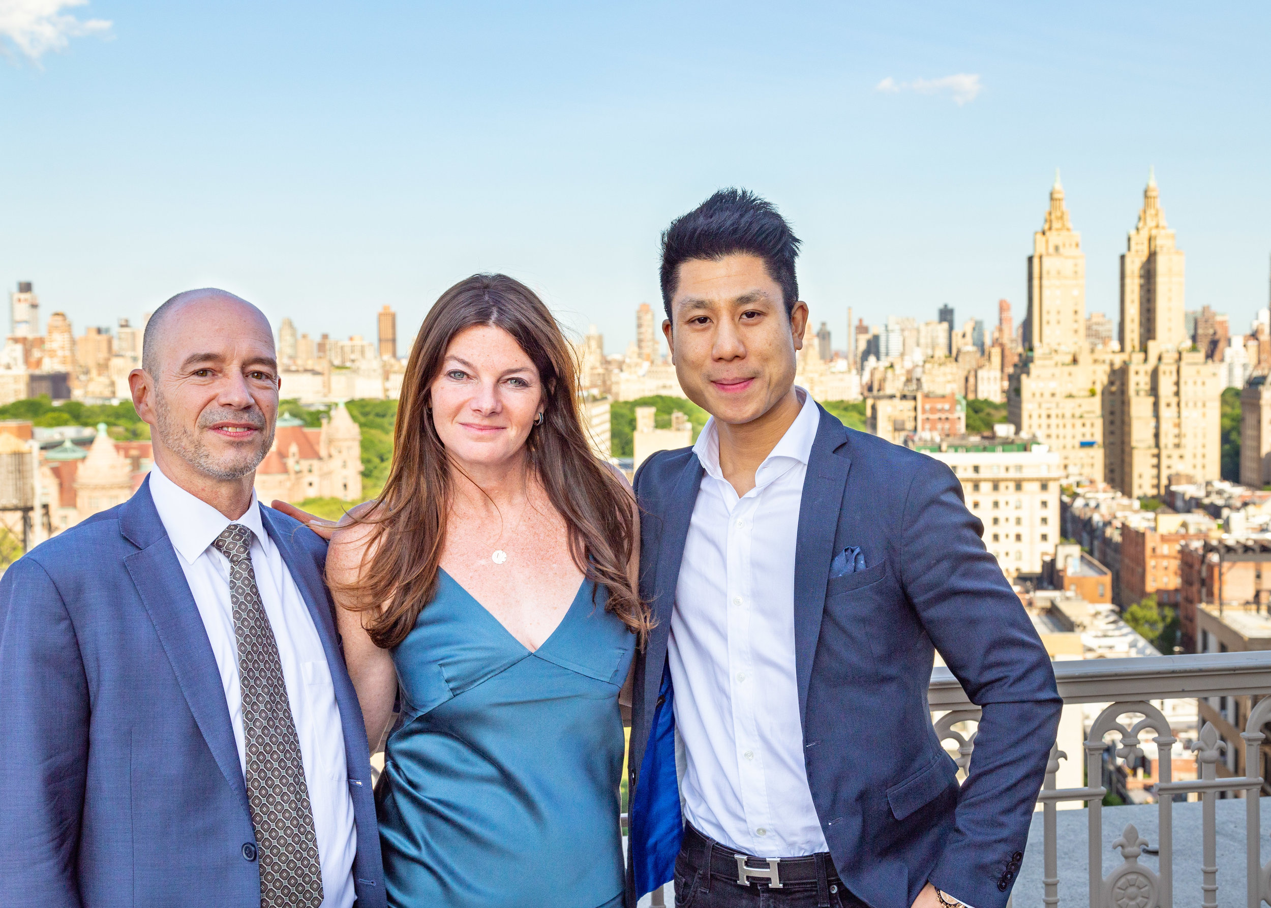 John Lawrence, Executive Manager of Sales at Douglas Elliman's 1996 Broadwa y Office; Jennifer Kalish, Agent, Douglas Elliman; and, Ace Watanasuparp, Executive Vice Presidence, Citizens Bank