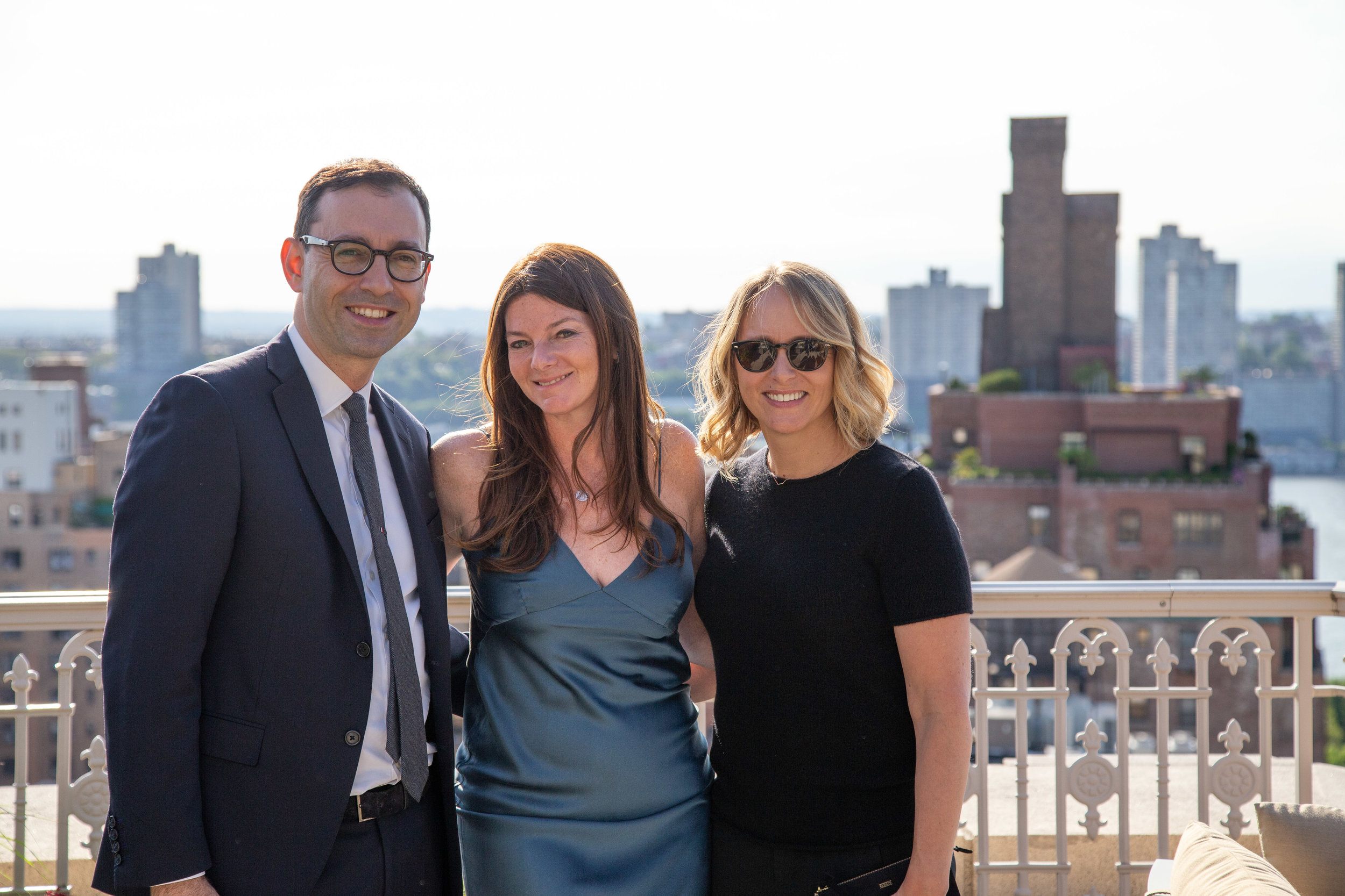 Laurent Morali, President, Kushner Companies; Jennifer Kalish, Agent, Douglas Elliman; and Liat Morali, wife of Laurent