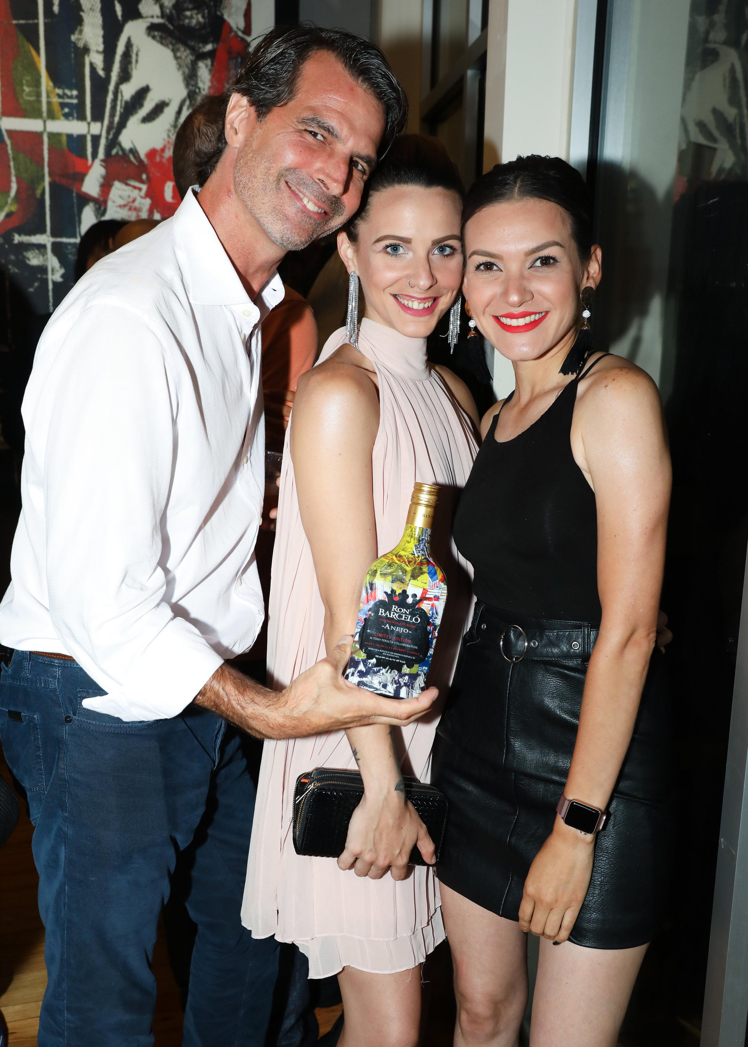 Jamie Antolini, Carolina Sentes and Dubraska Bermuz