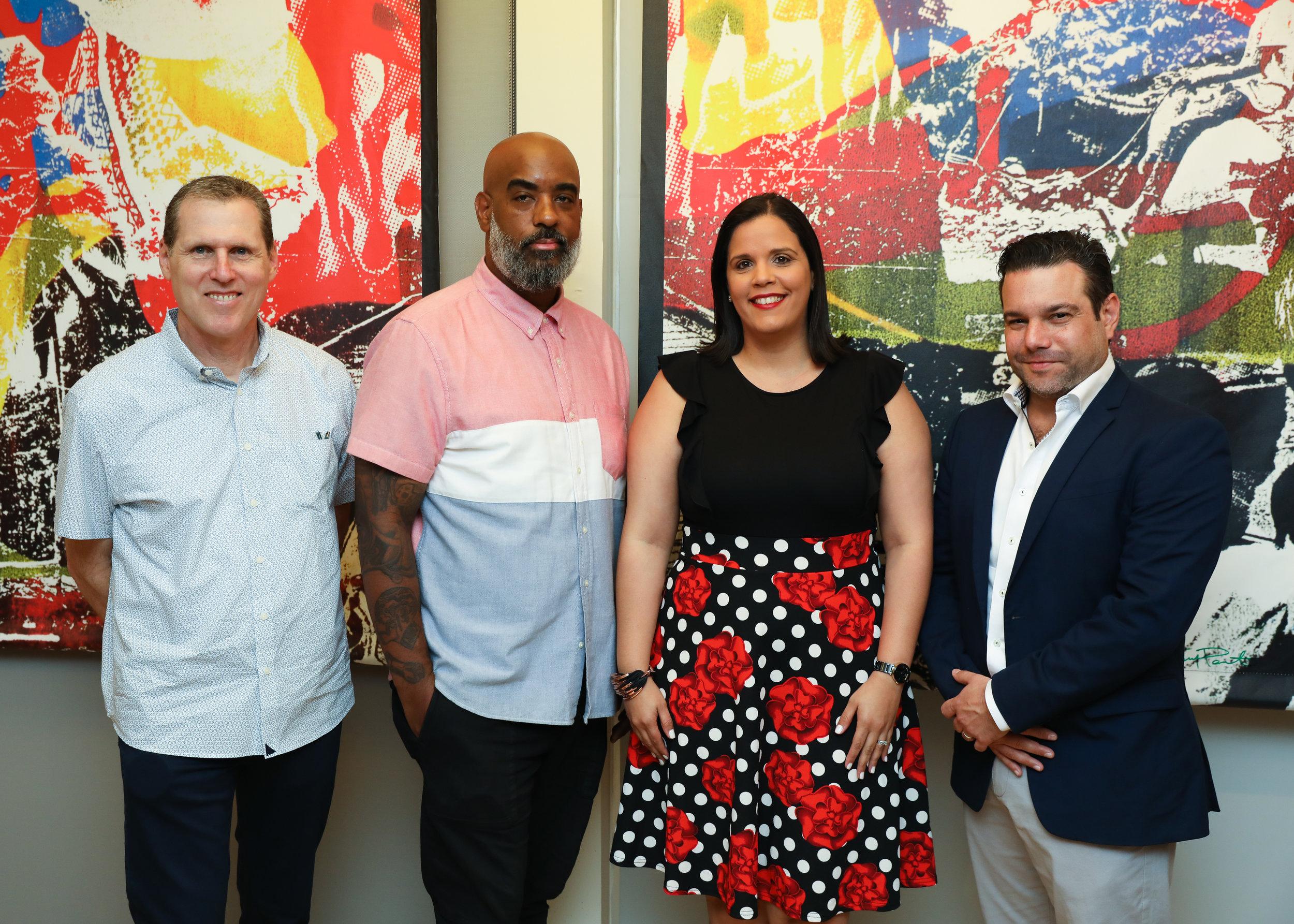 Rod Simmons, M. Tony Peralta, Rosa Peña and Miguel Diaz