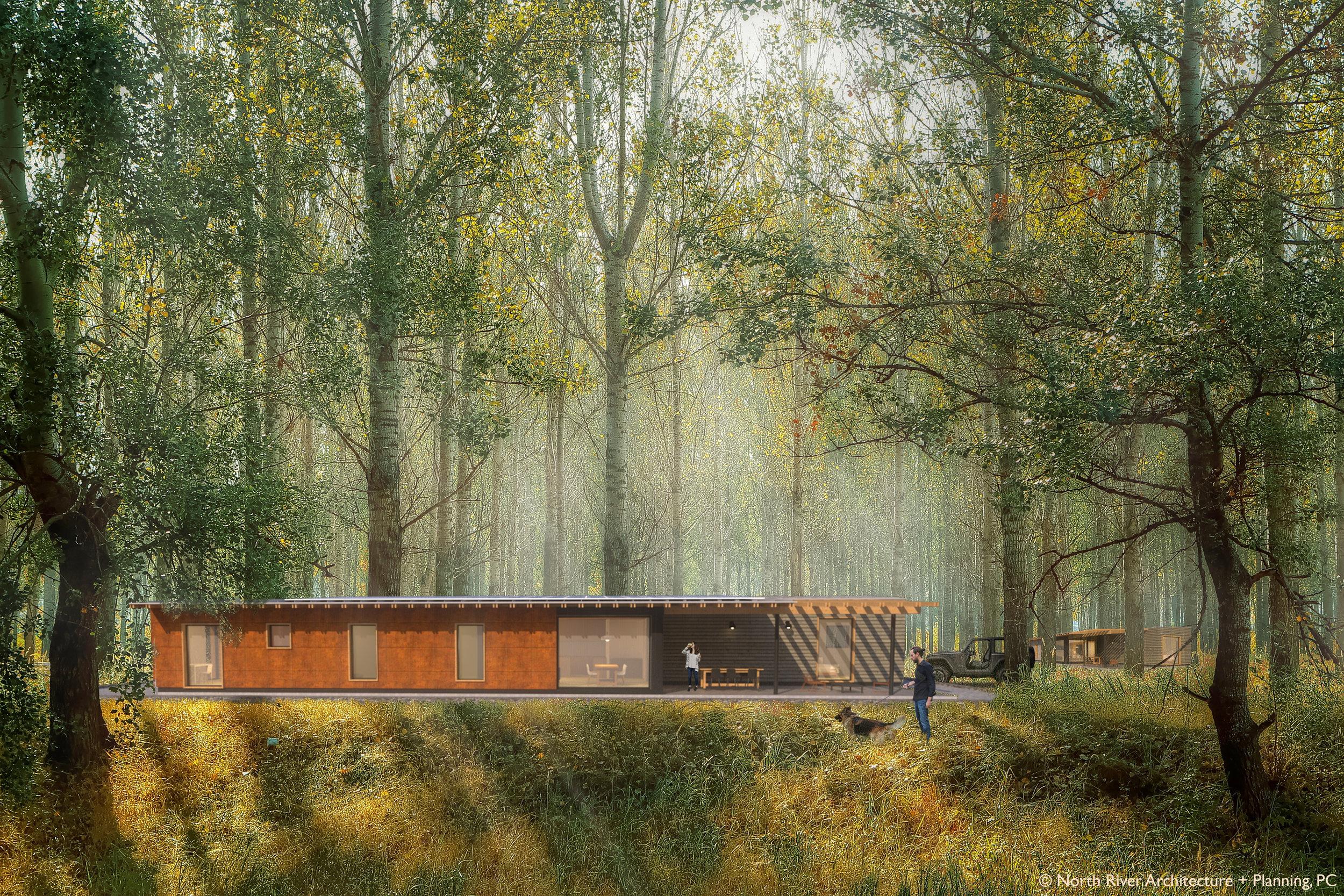 Catskills Passive House Concept Exterior