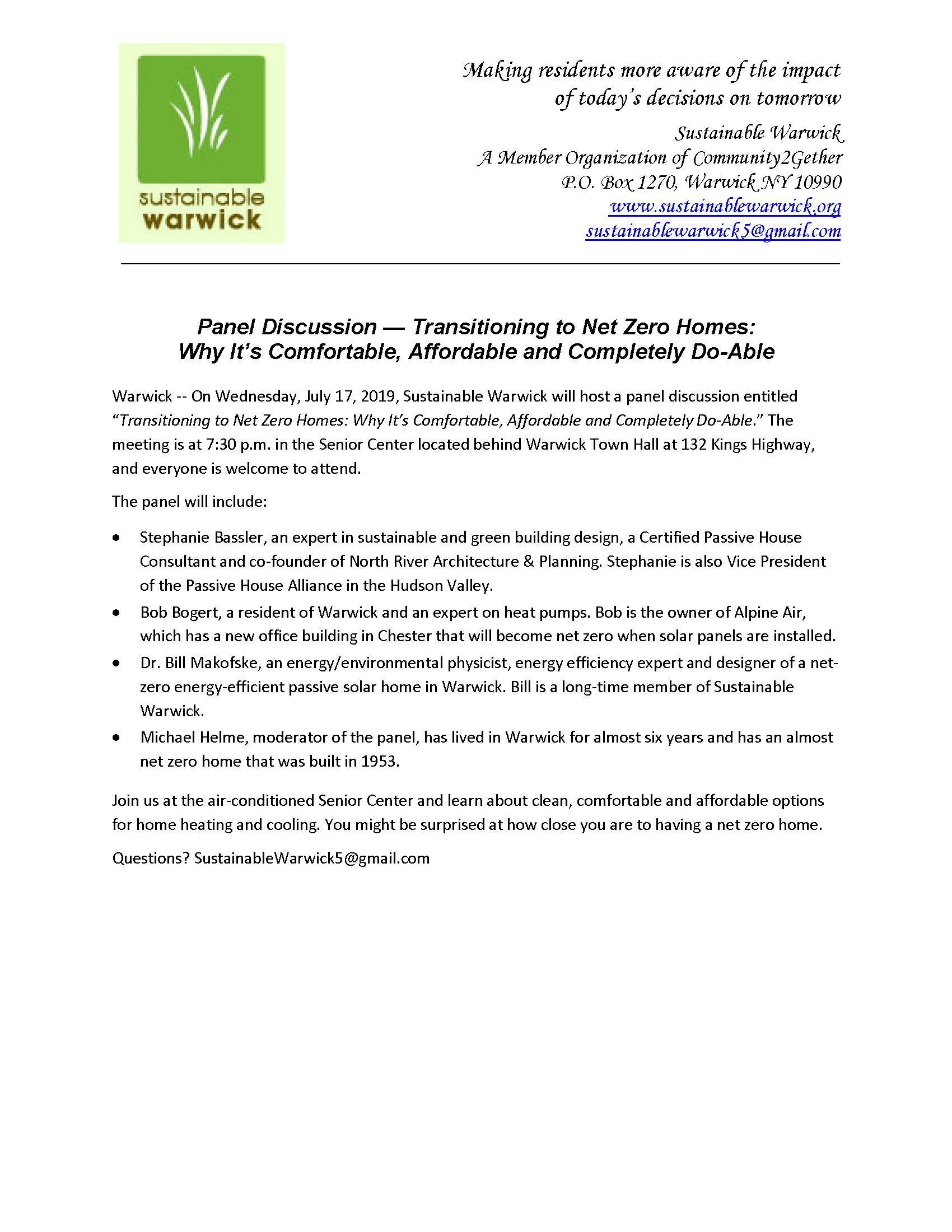 NRAP Sustainable Warwick Net Zero Homes