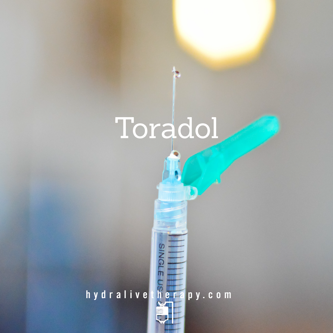 Toradol - $30   Non-narcotic pain relief and anti-inflammatory medication providing relief for headaches, migraines and joint pain.  NOT for pregnant women or individuals with aspirin allergies.