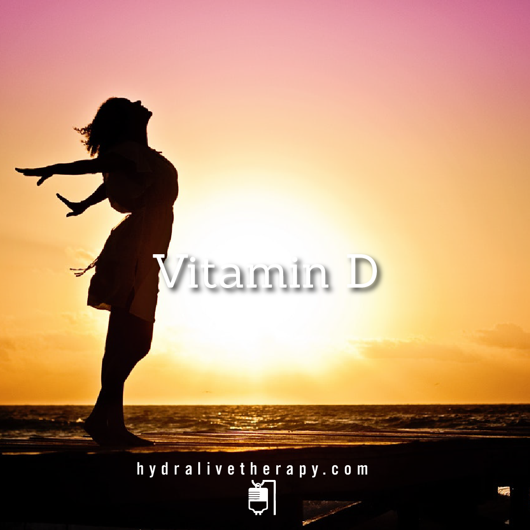 Vitamin D  -  $42   Known as the sunshine vitamin, vitamin D is produced by the body in response to skin being exposed to sunlight. Vitamin D is essential for strong bones, because it helps the body use calcium from the diet.    Learn More