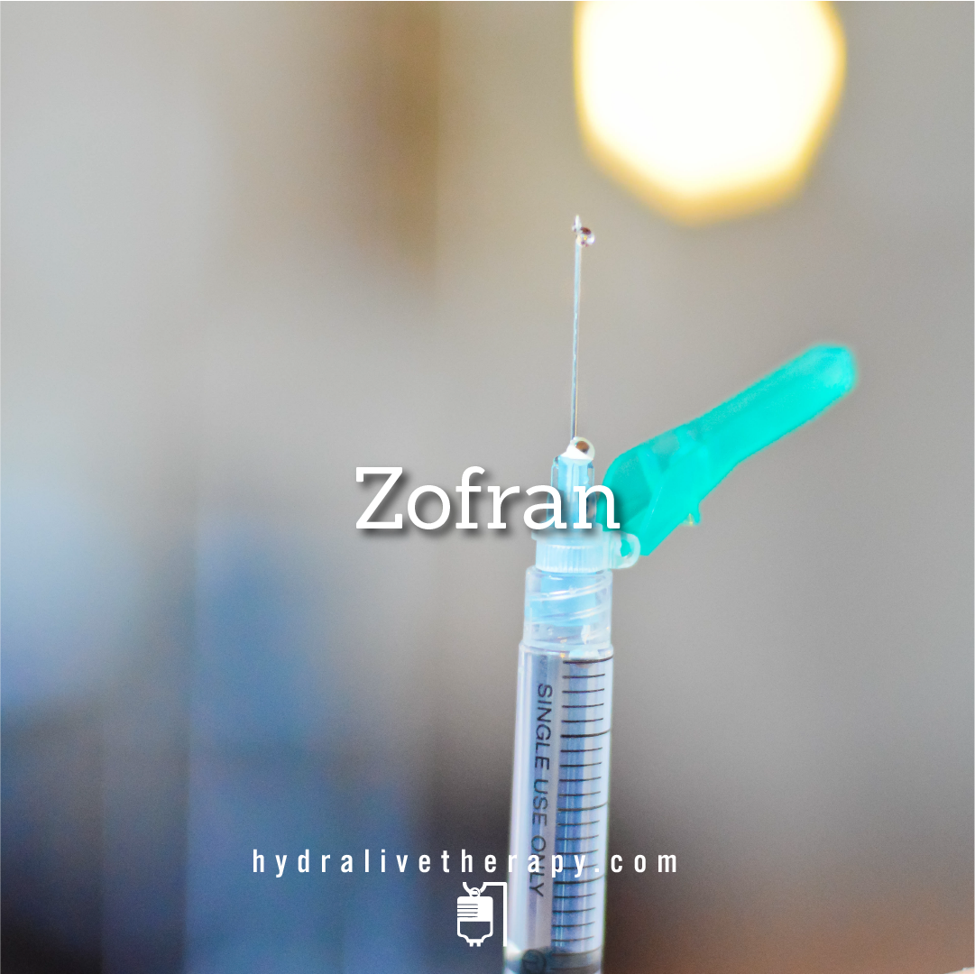 Zofran - $18   Relief from vomiting and nausea Effective relief for irritable bowel syndrome (IBS)  NOT for use during pregnancy
