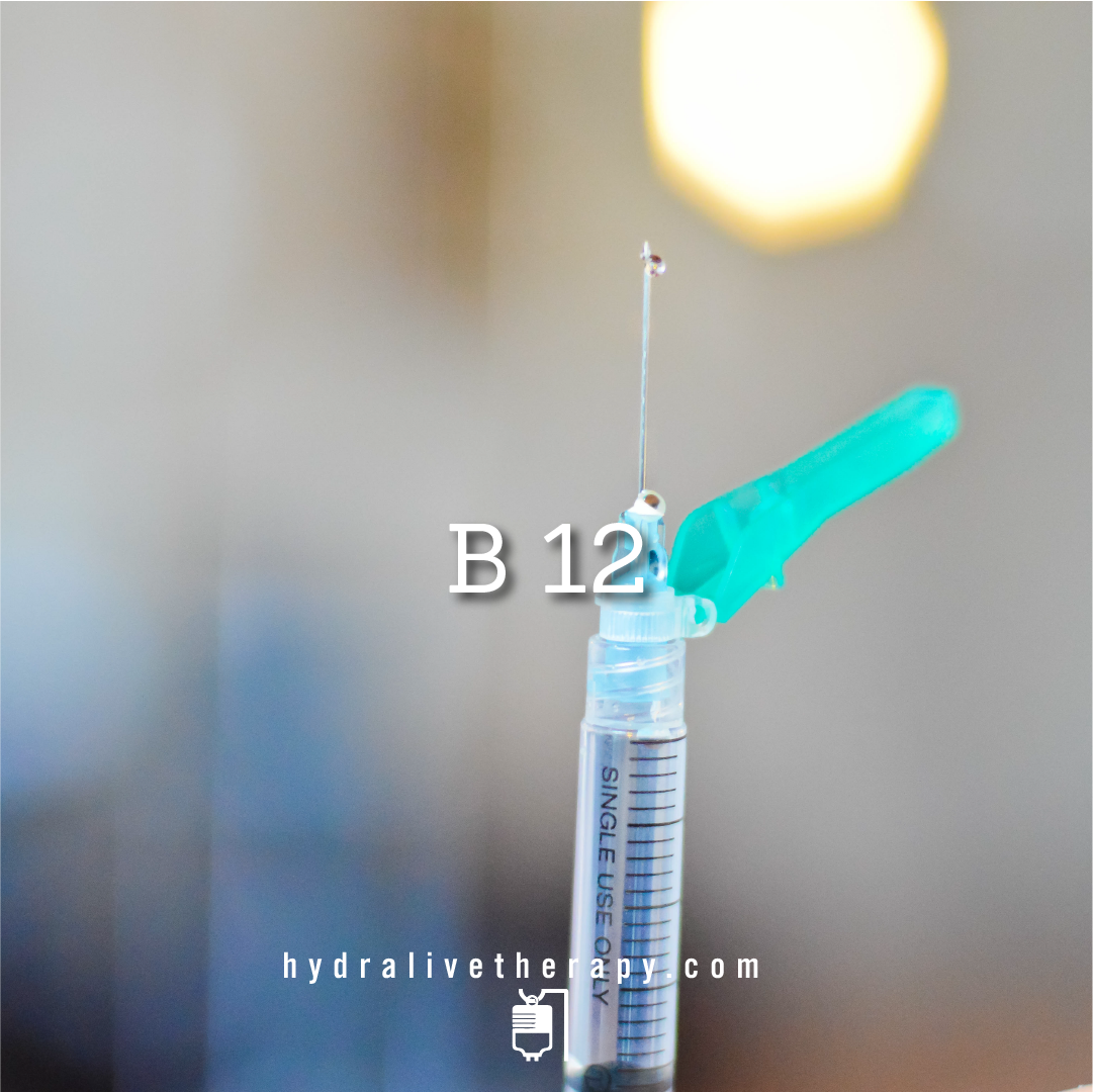 Vitamin B12 - $18   Vitamin B12 is an essential vitamin that plays a key role in normal body function. Experience natural lasting energy and aid with sleep, mood and combating fatigue.