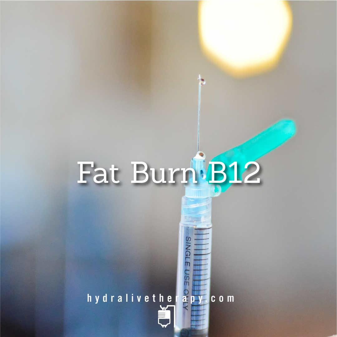 Vitamin B12 with Fat Burner - $42   Our long-lasting B12 with the addition of a powerful lipotropic agent that promotes fat burning throughout the body.